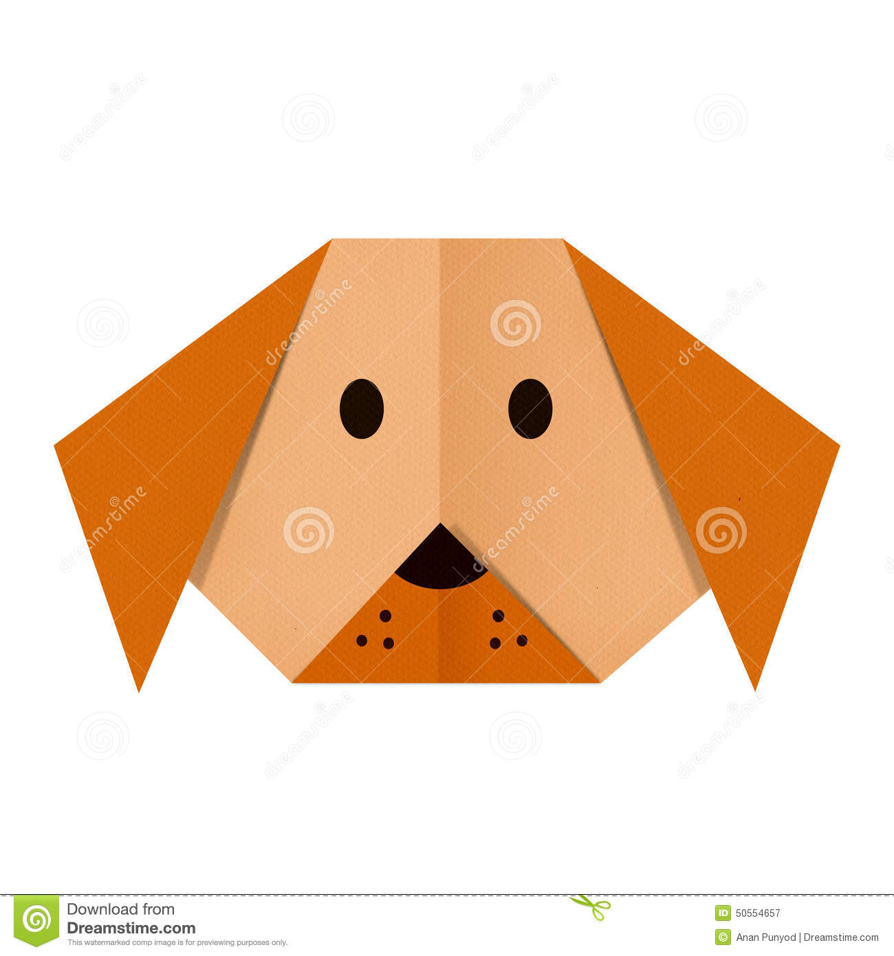 Origami dog face how to origami - Origami Paper A Dog Face Royalty Free Stock Photography