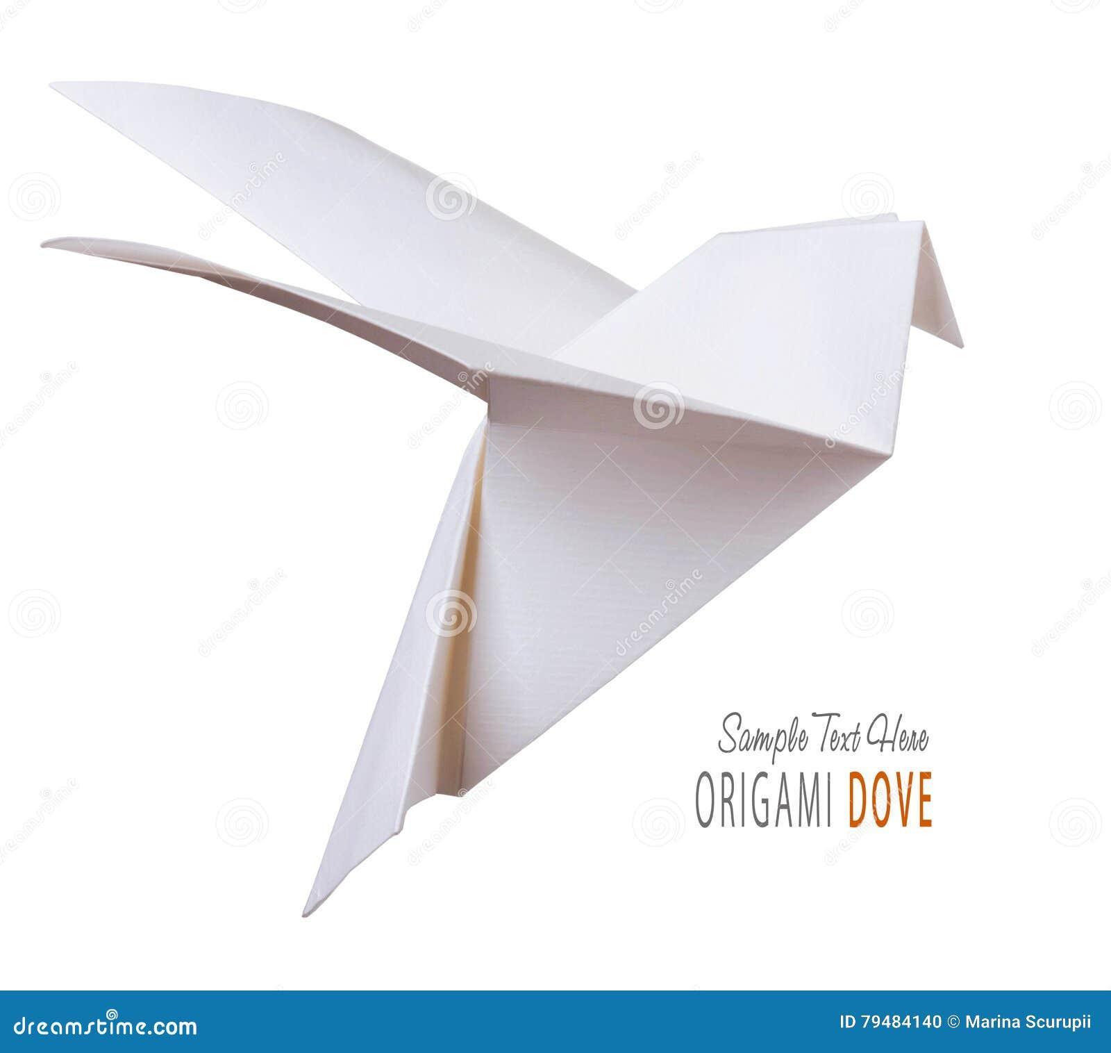 Origami Dove Cartoon Vector   CartoonDealer.com #3931851 - photo#18