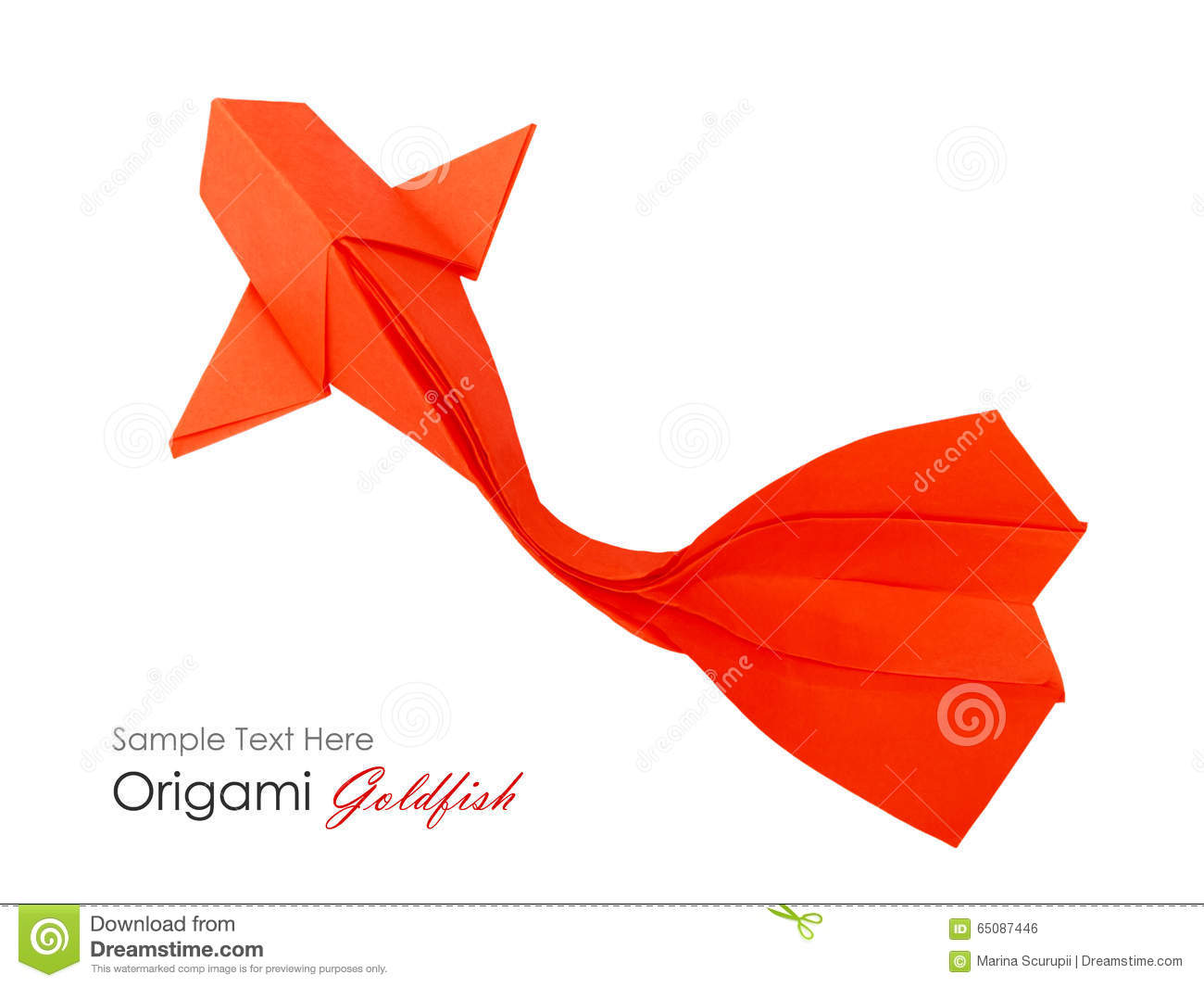 Origami Paper Fish Stock Photo Image Of Motion Business 65087446