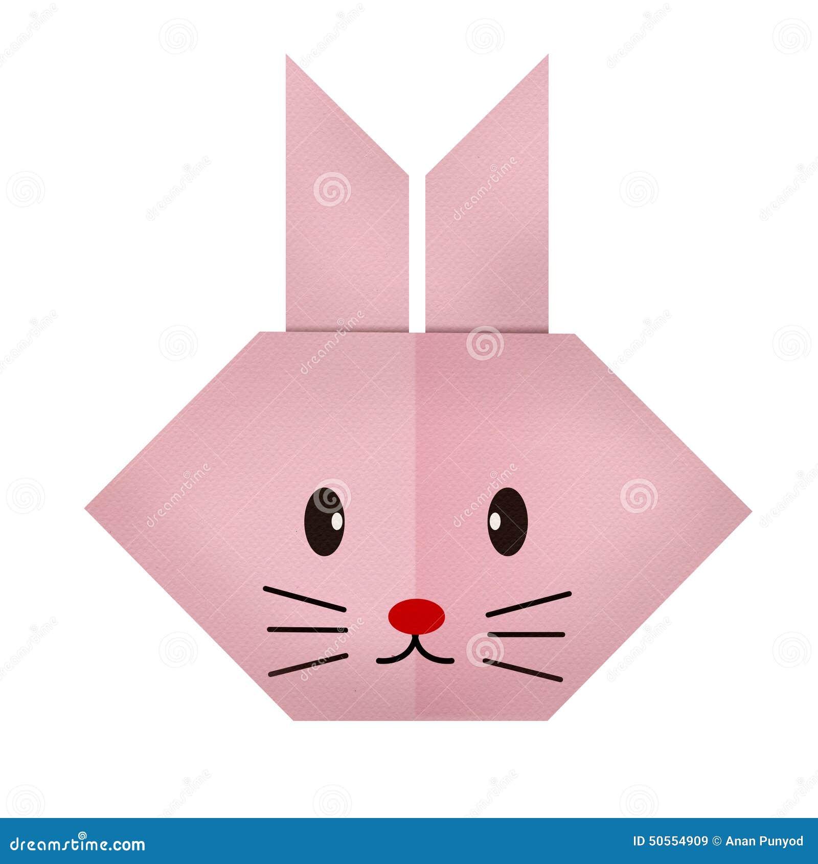 Origami paper a rabbit face stock photo image 50554909 - Origami para todos ...