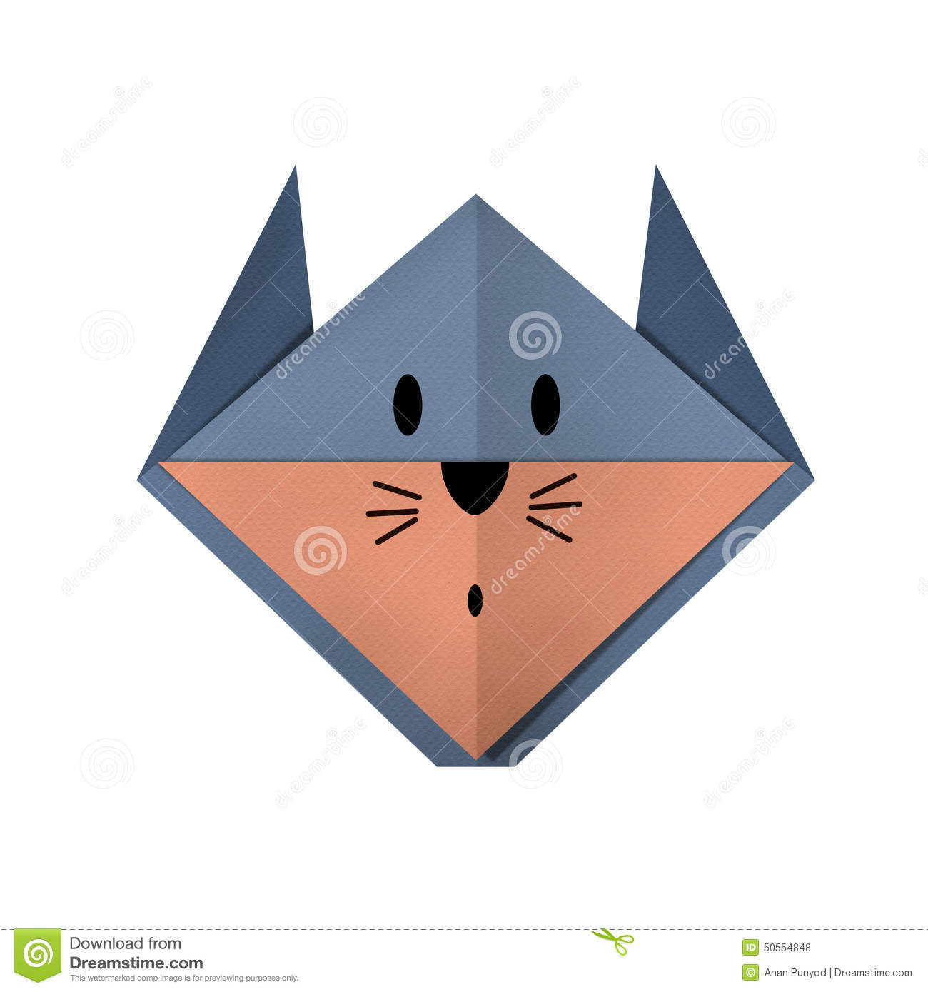 Origami paper a rat face stock photo image of craft 50554848 royalty free stock photo jeuxipadfo Images