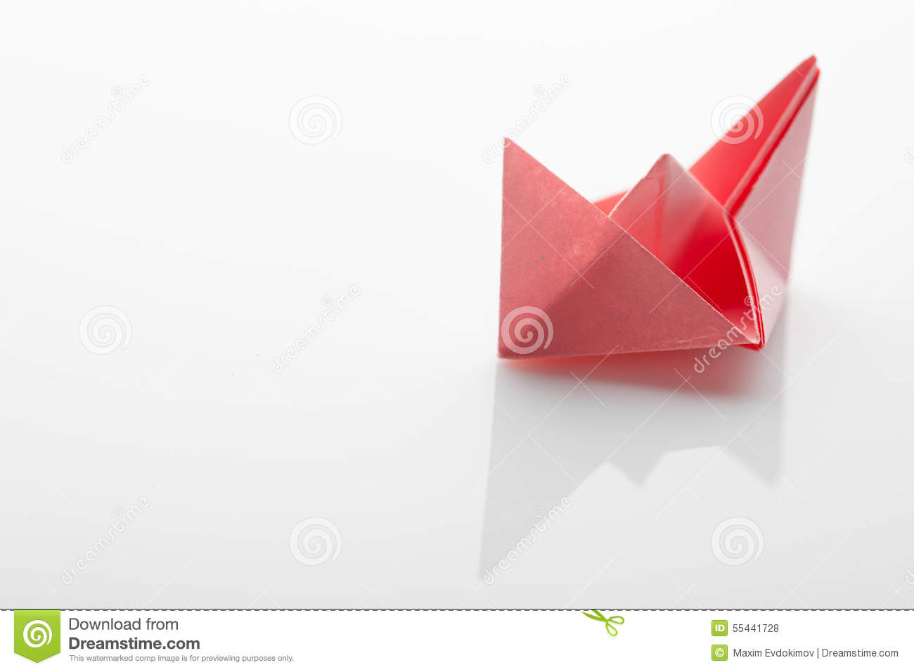 Origami paper ship on white background stock photo image of game origami paper ship on white background with clipping path jeuxipadfo Images