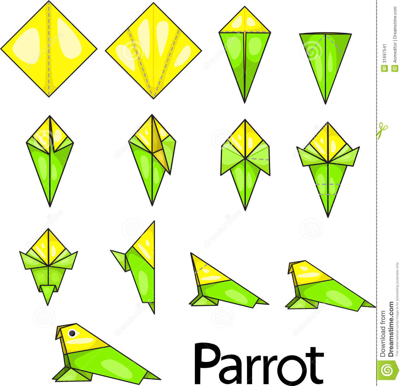 origami parrot step by step - DriverLayer Search Engine