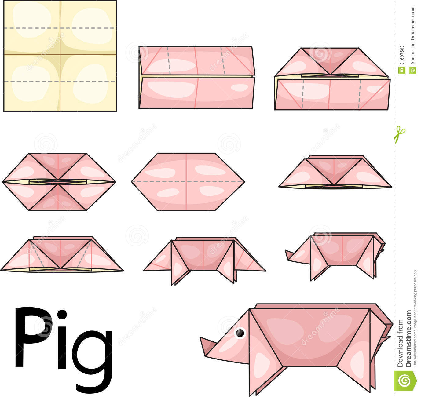 Origami Pig Stock Photos - Image: 31697563