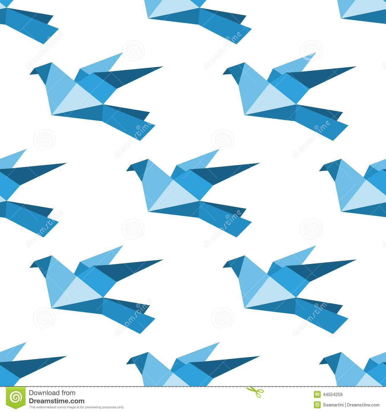 Origami Pigeons And Doves Seamless Pattern Stock Vector ... - photo#47