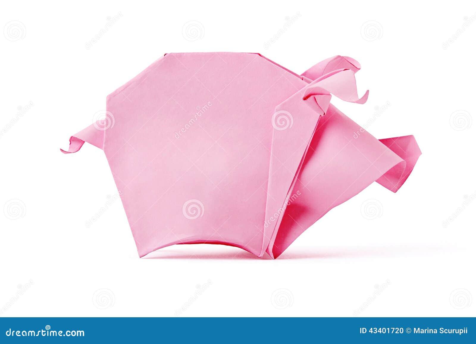 Pig Origami