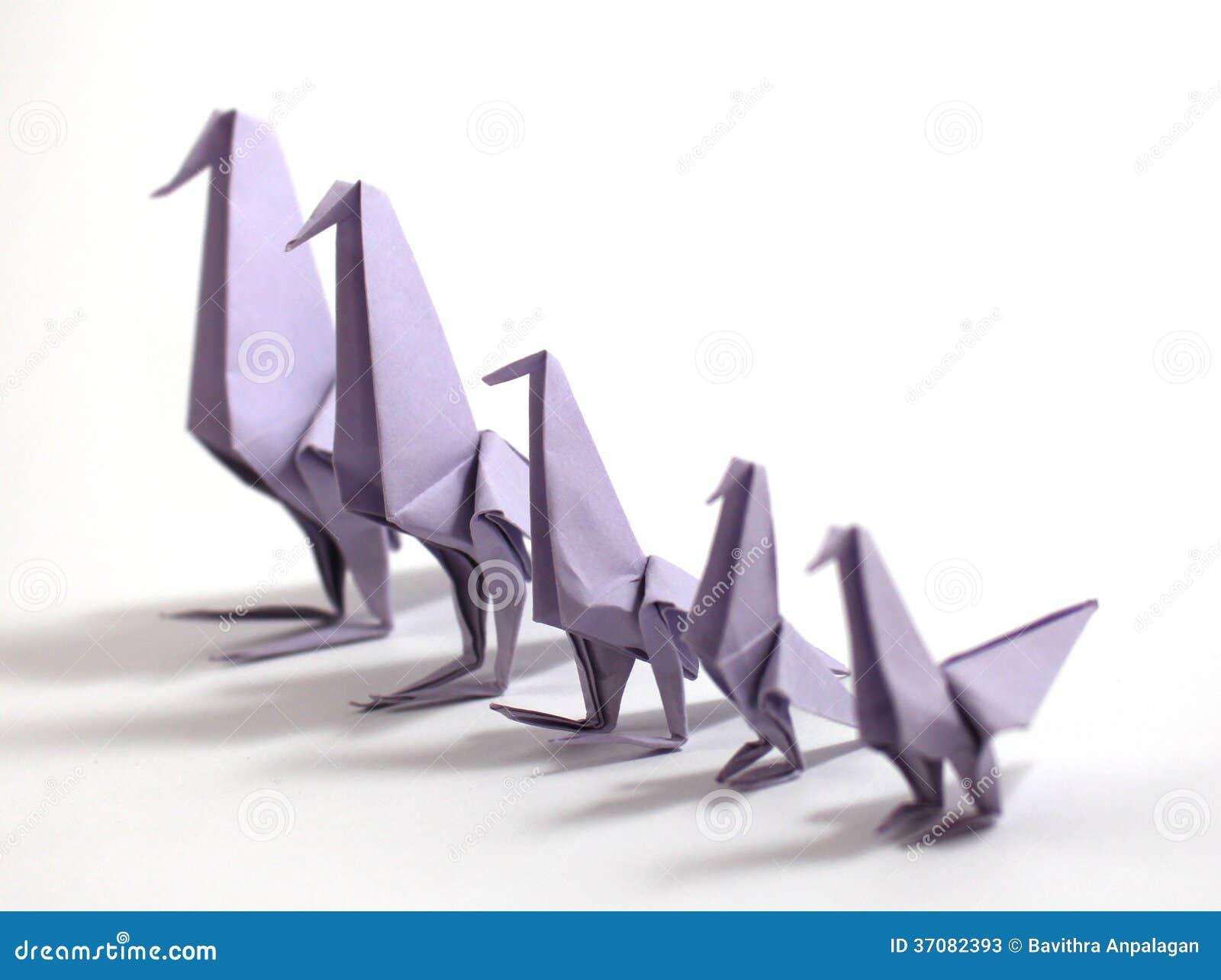 Download Origami ptak obraz stock. Obraz złożonej z wschód, para - 37082393