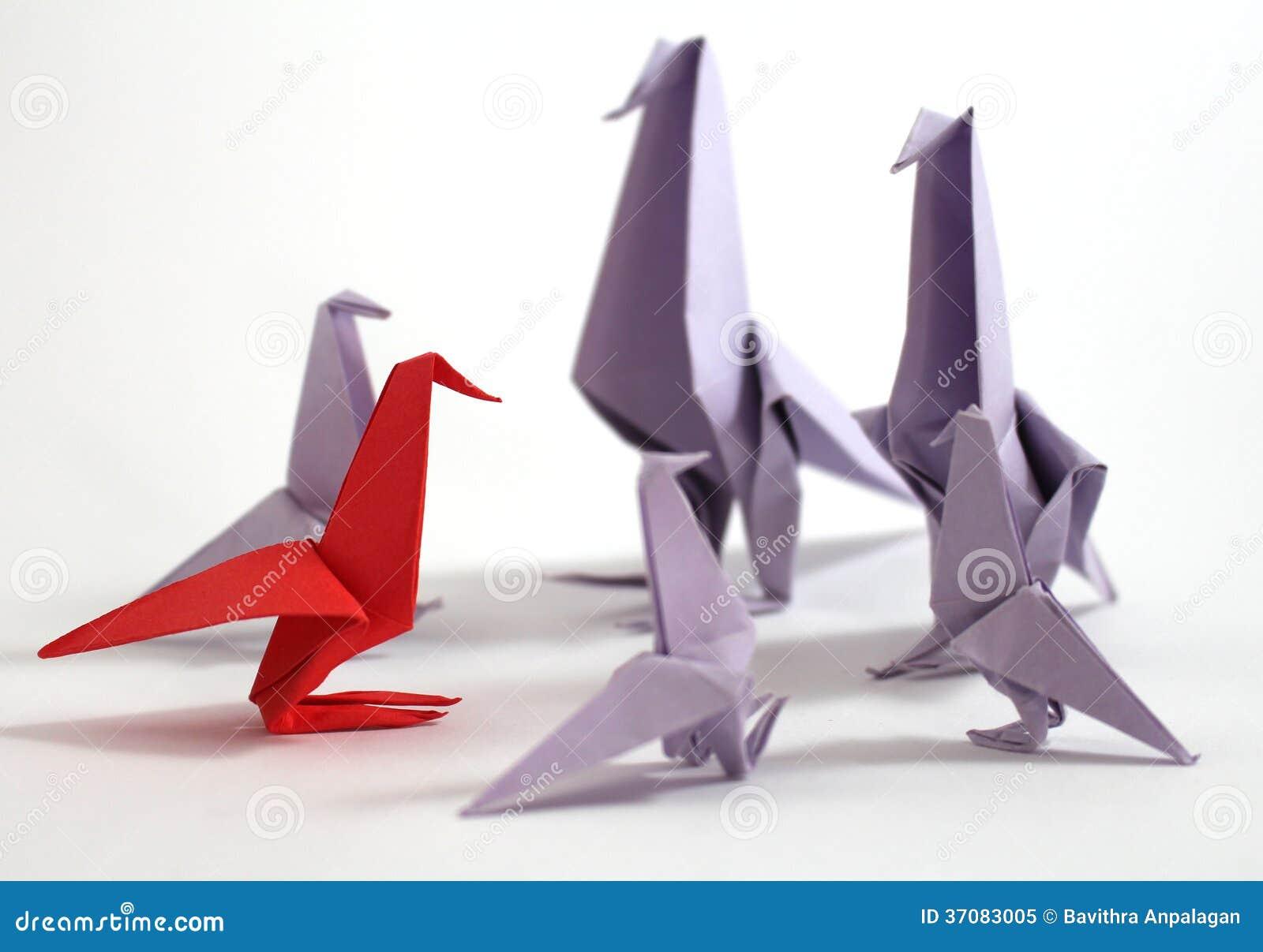 Download Origami ptak obraz stock. Obraz złożonej z arte, azjata - 37083005