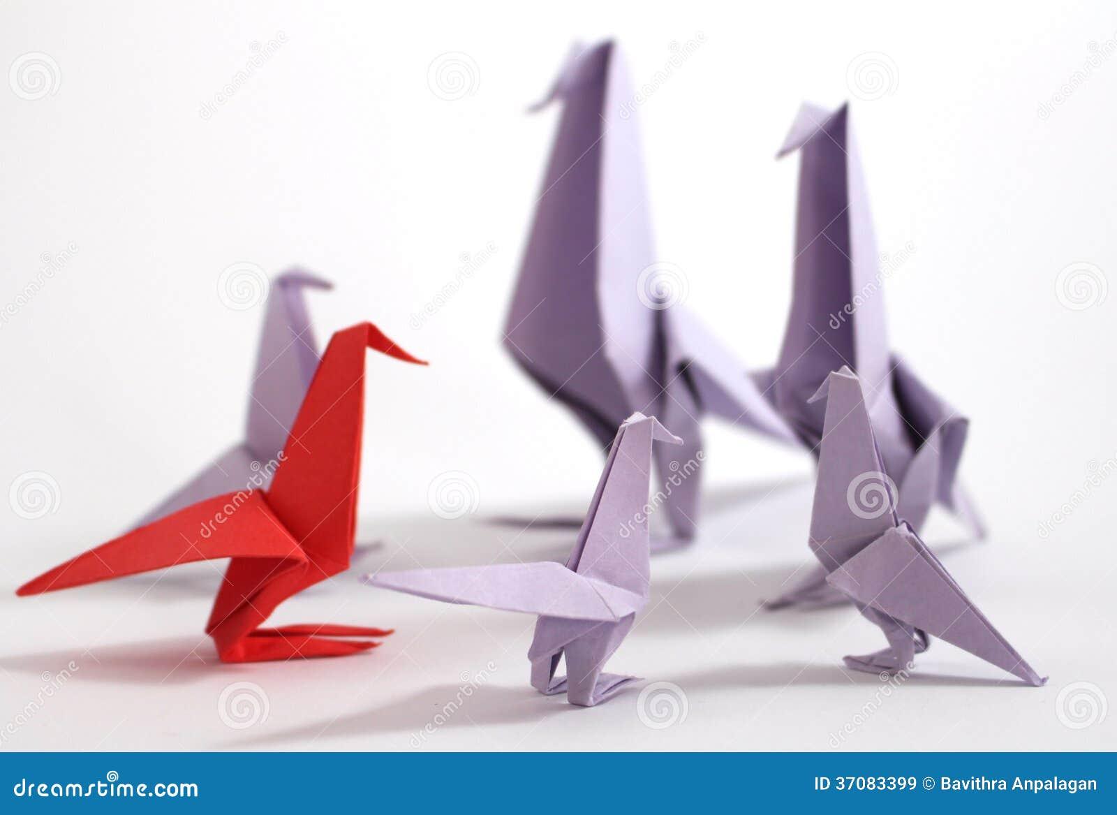 Download Origami ptak obraz stock. Obraz złożonej z konkurencyjny - 37083399