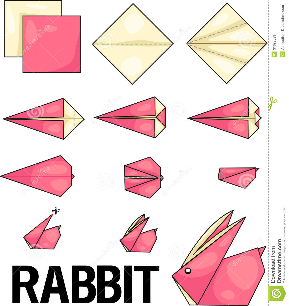 Origami Rabbit Royalty Free Stock Images - Image: 31697589