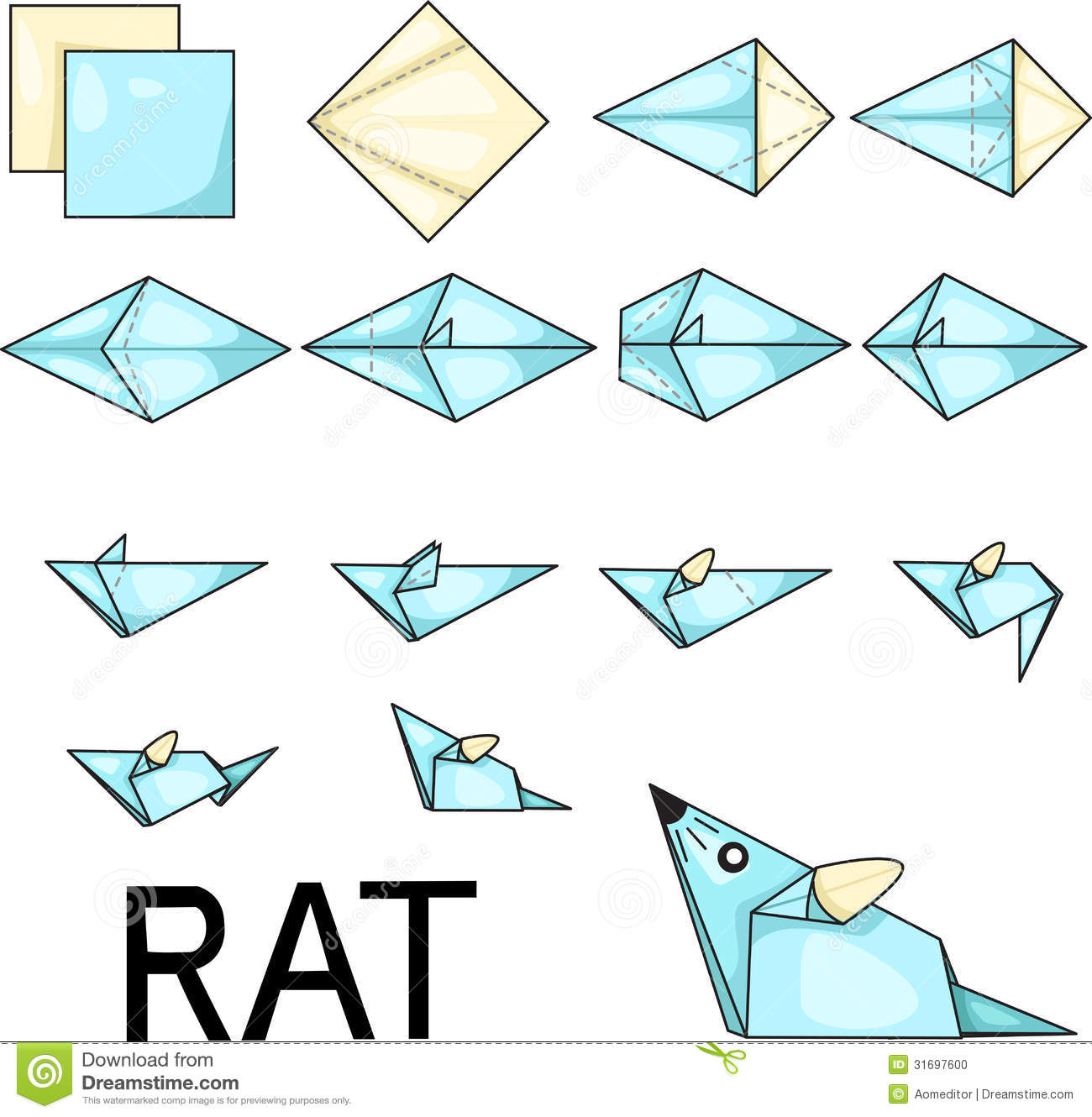 Origami Rat Stock Photo - Image: 31697600