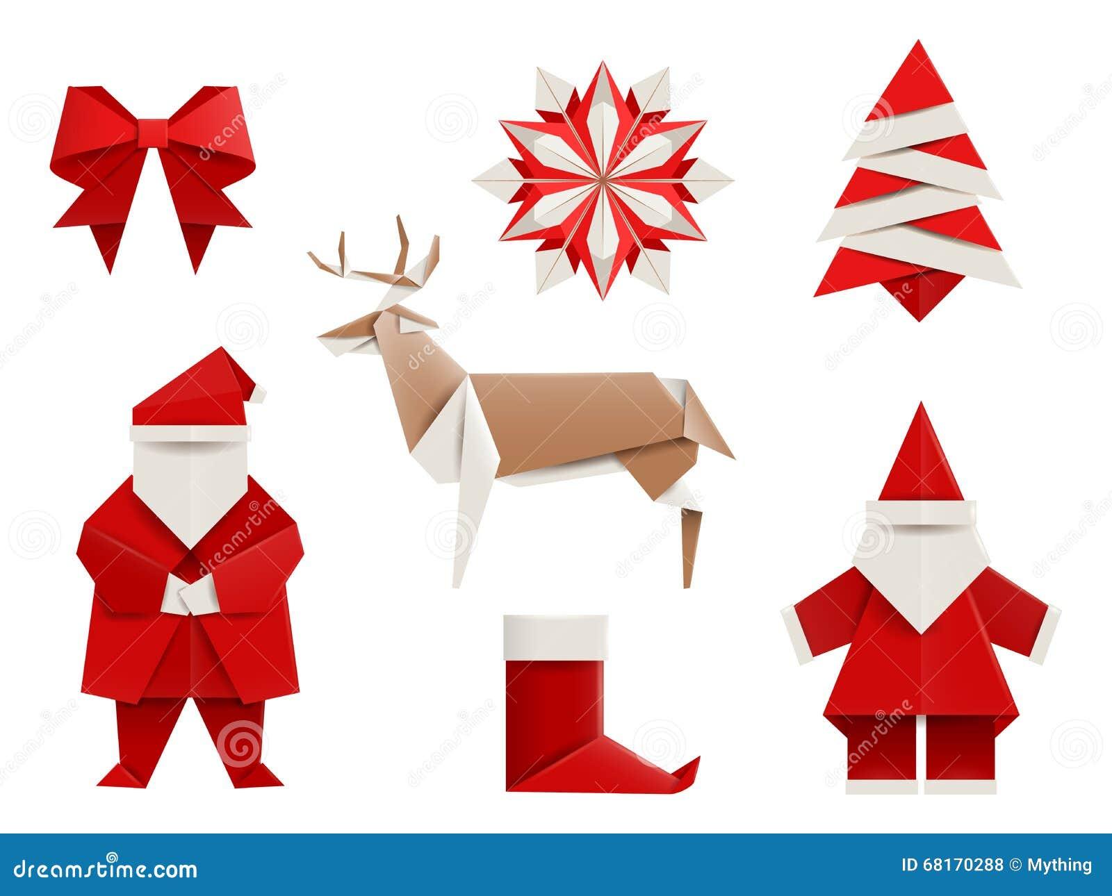 Famoso Origami Realistici, Natale Fissato: Santa, Cervo, Albero Di Natale  CI46