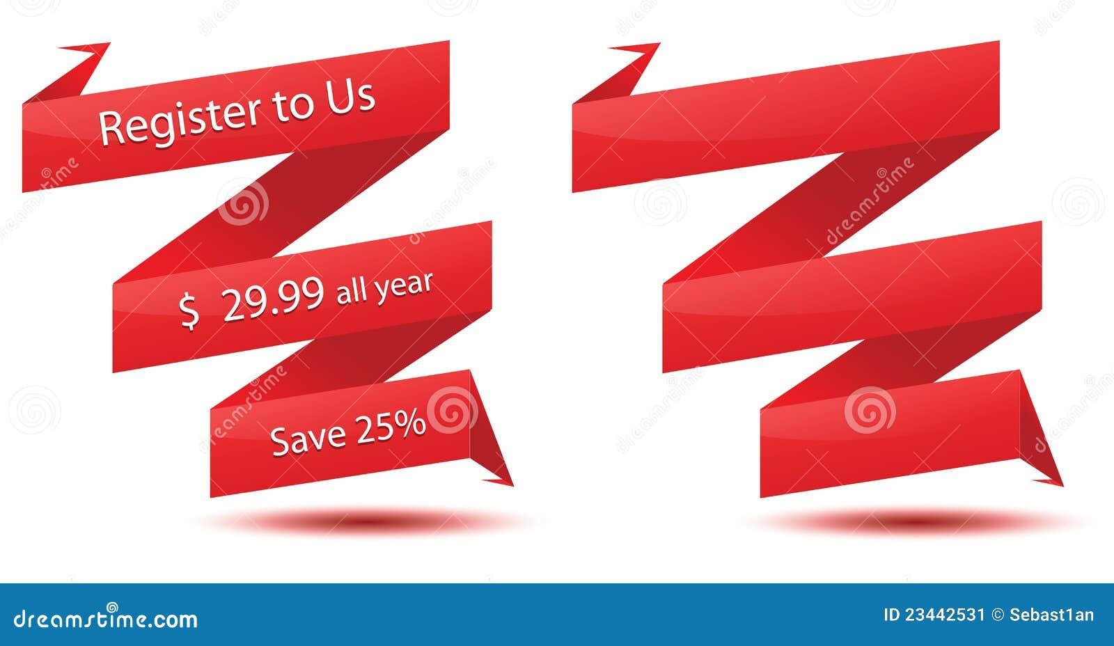 origami ribbon stock image image 23442531