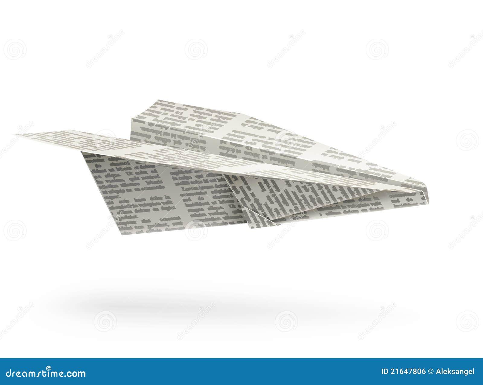 Origami samolotowy papier