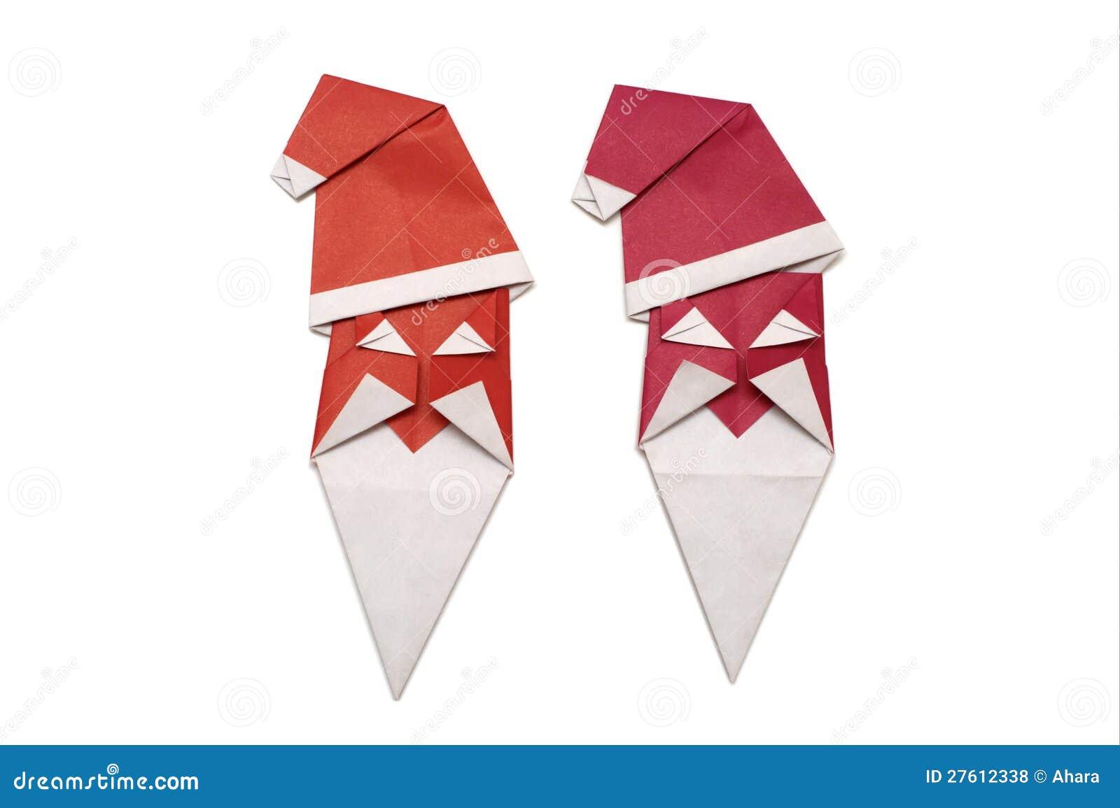 Origami Santa Claus Royalty Free Stock Photos - Image ... - photo#41