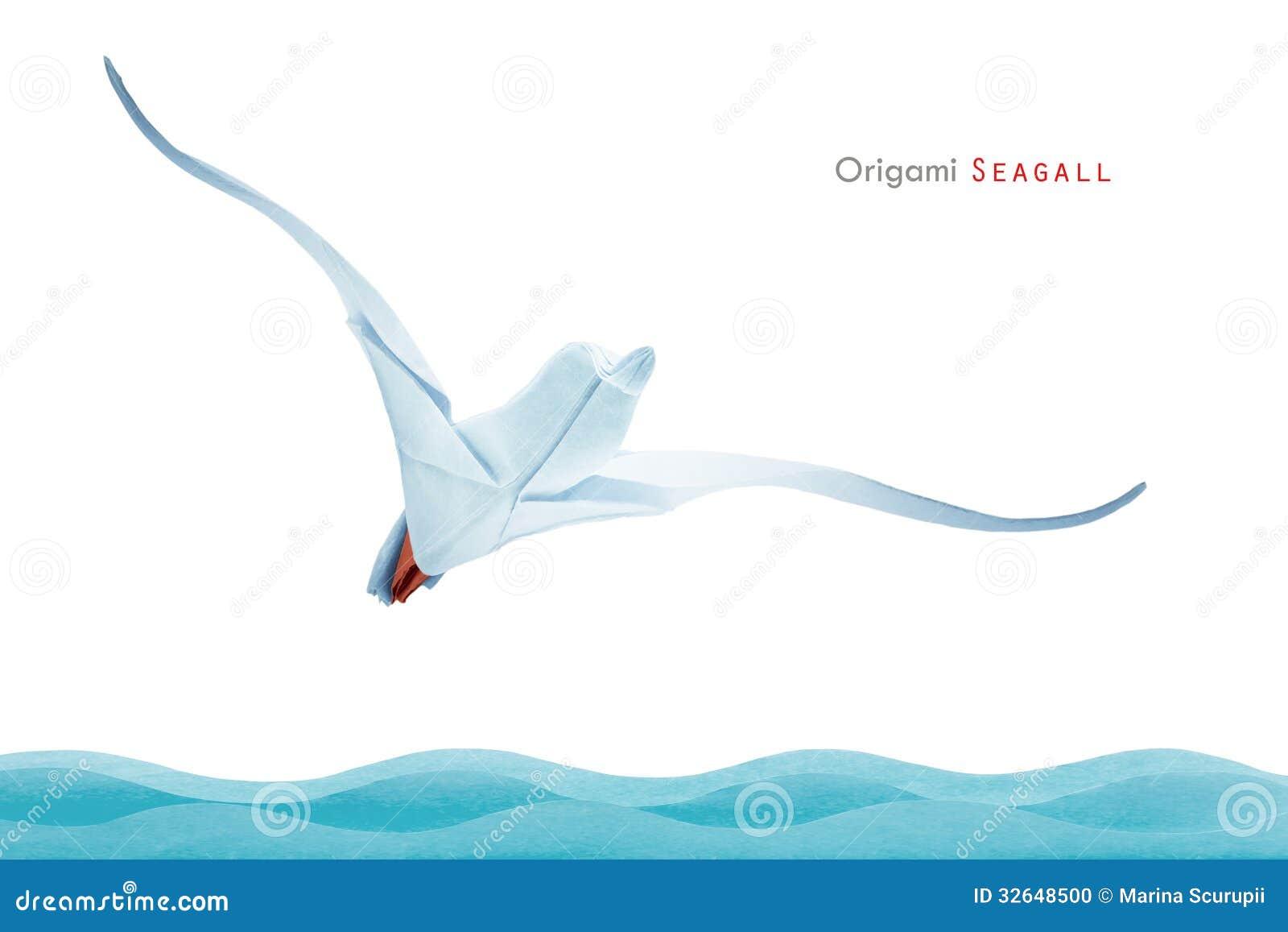Origami seagull