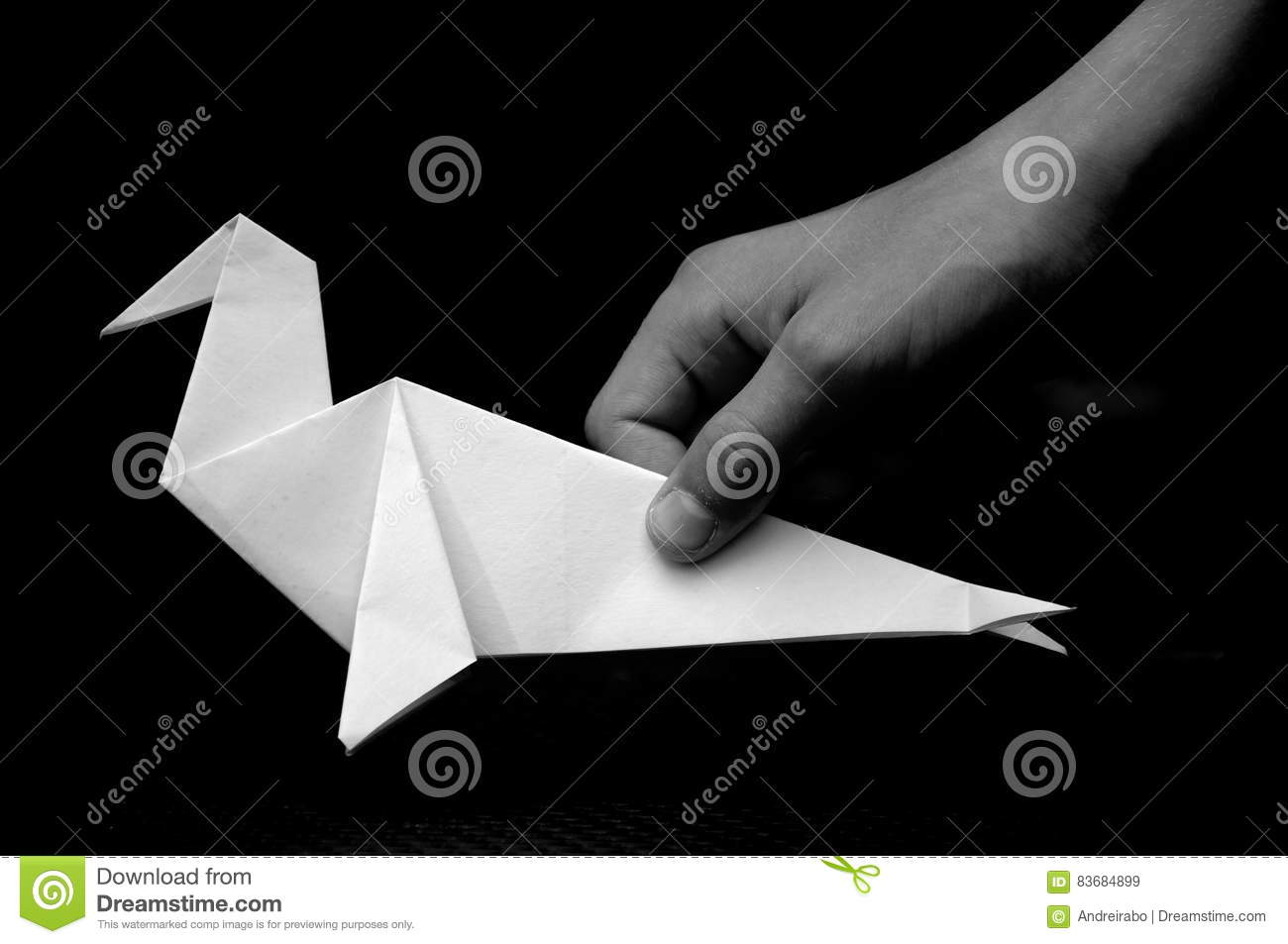 Origami seal stock image image of paper statement powerful origami seal jeuxipadfo Gallery