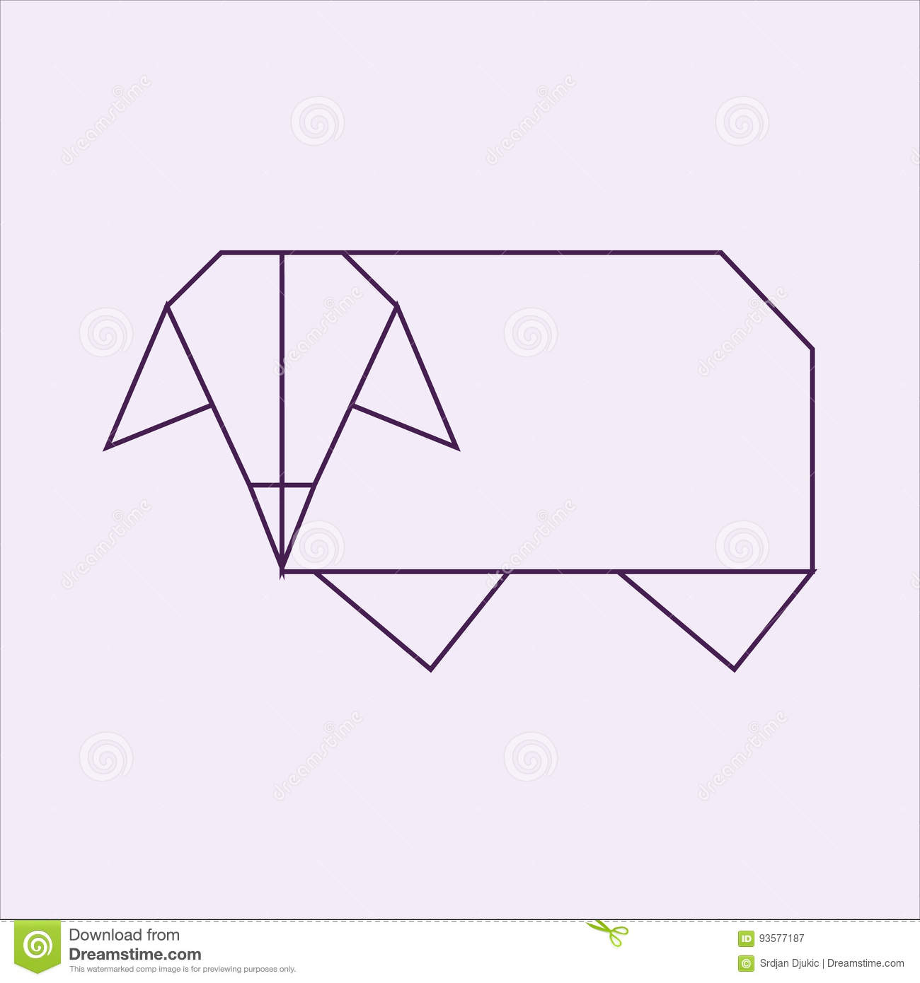 Download Origami Sheep Stock Illustration Of Funny