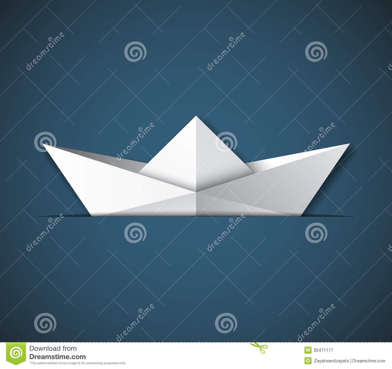 Origami ship stock vector. Illustration of voyage, gray - 35471177