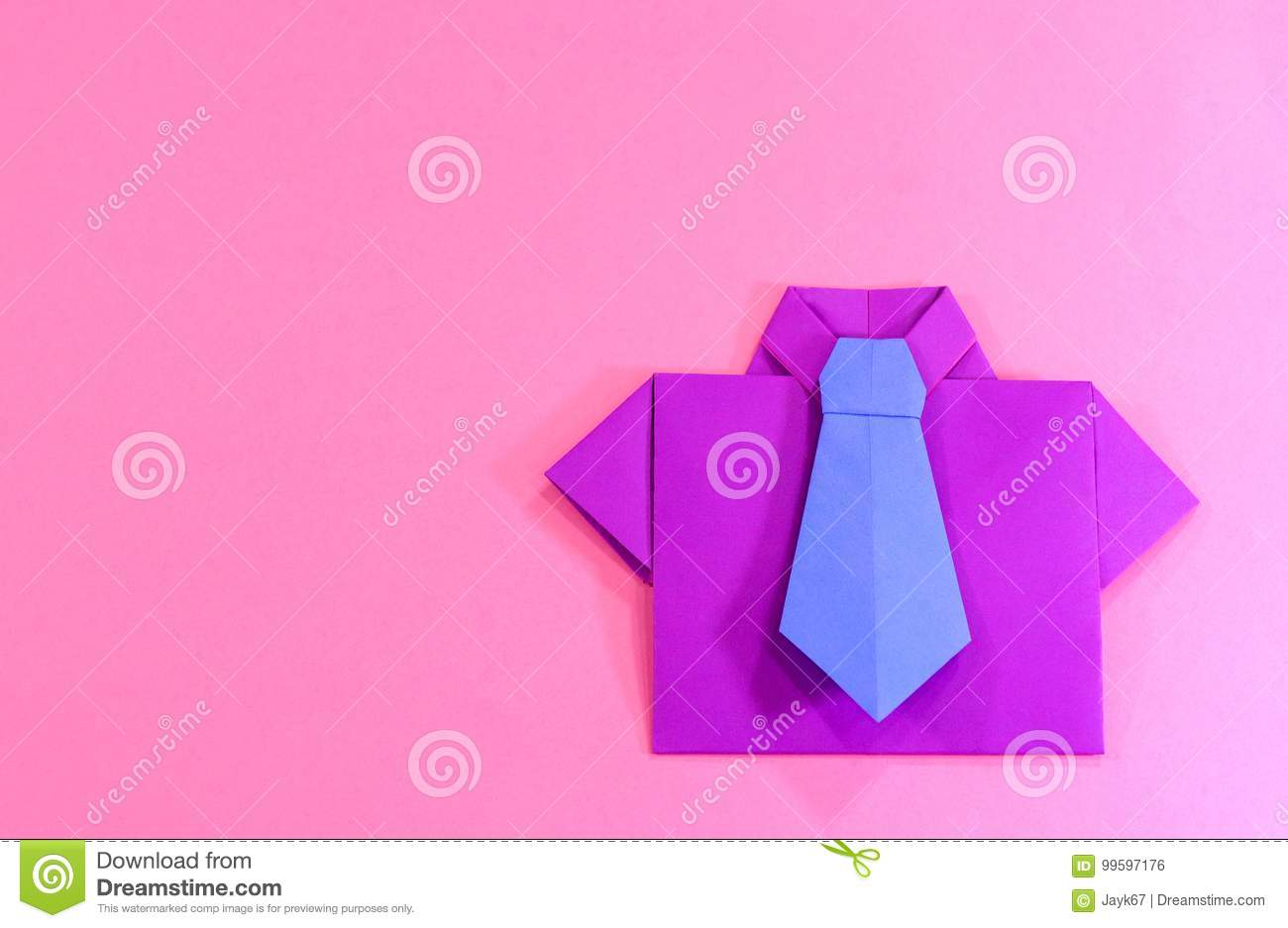 Origami Shirt Stock Photo Image Of Dads Abstract Colorful 99597176