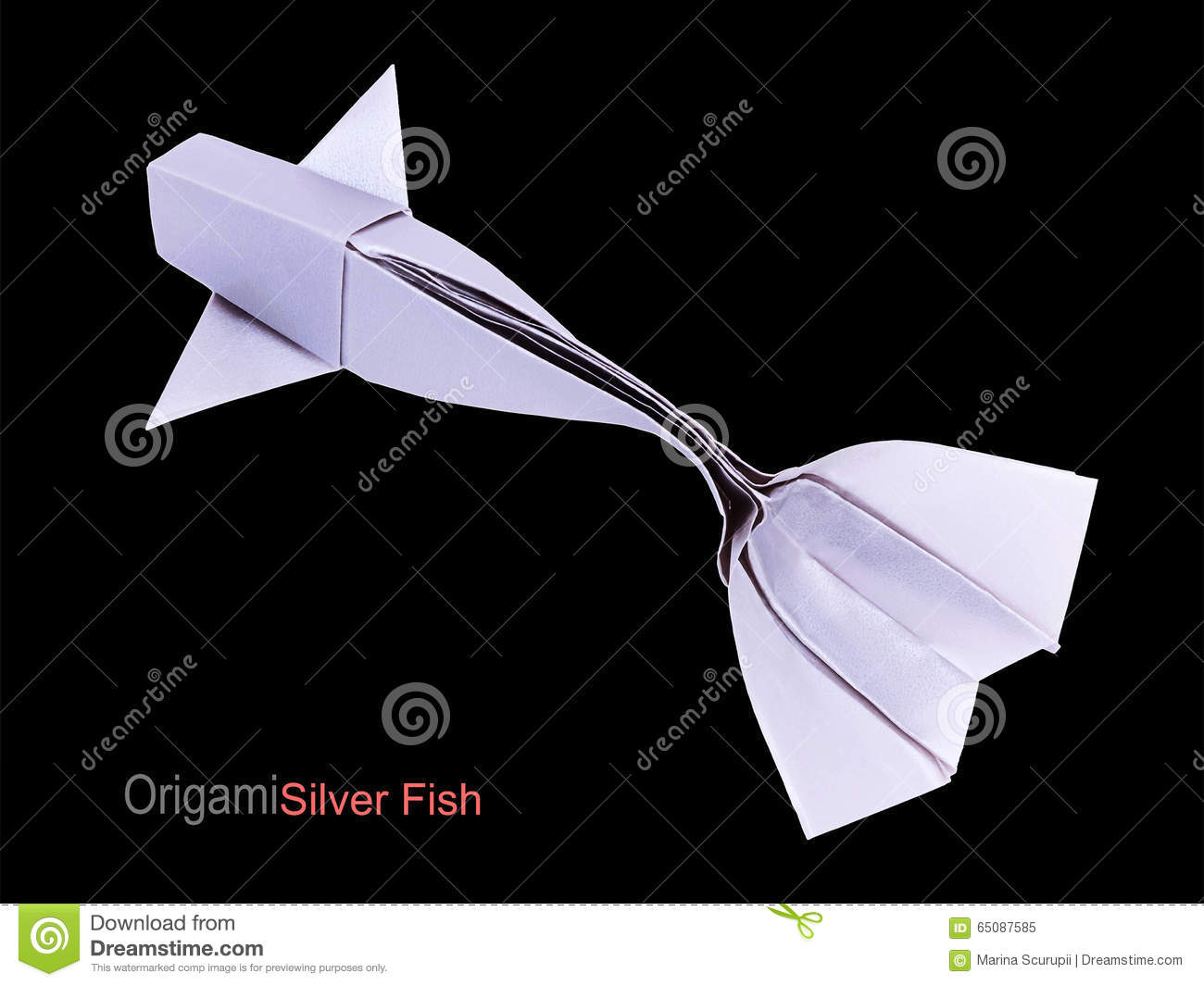 Origami Silver Fish Stock Image Image Of Life Activity 65087585