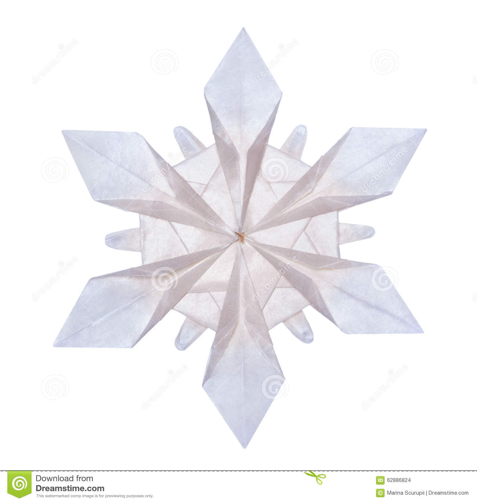 Origami Snowflakes Stock Photo Image Of Blue Element 62886824