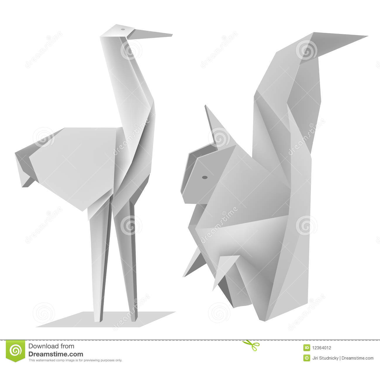 Origamisquirrelstork stock vector illustration of animal 12364012 royalty free stock photo jeuxipadfo Choice Image
