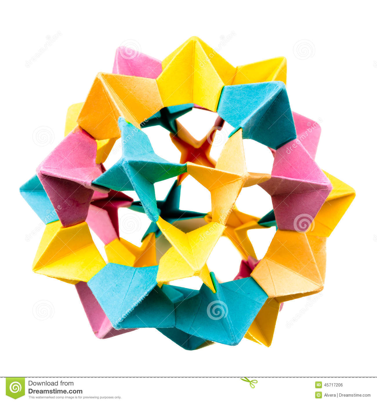 Origami Star Electra Sphere Stock Photo - Image of star ... - photo#30