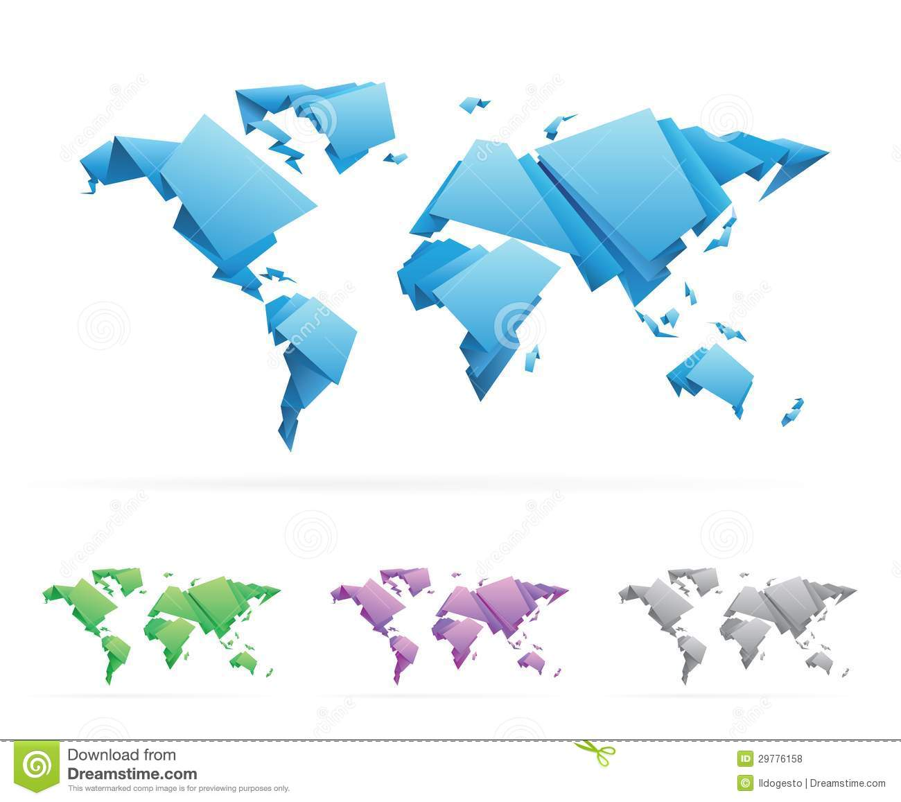 Triangle world stock vector illustration of design global 31593068 origami style vector world map royalty free stock photos gumiabroncs Image collections