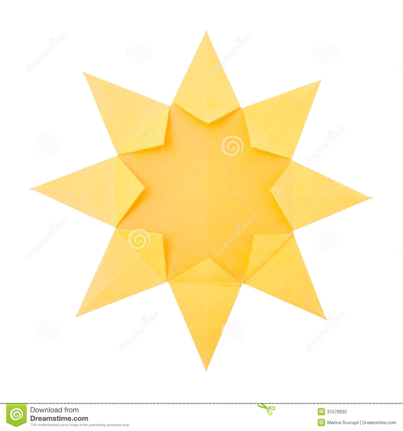 origami sun stock photography image 31570632