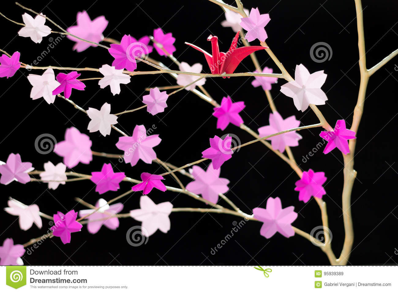 How To Make A DIY Origami Cherry Blossom Tree With Willow ... - photo#22
