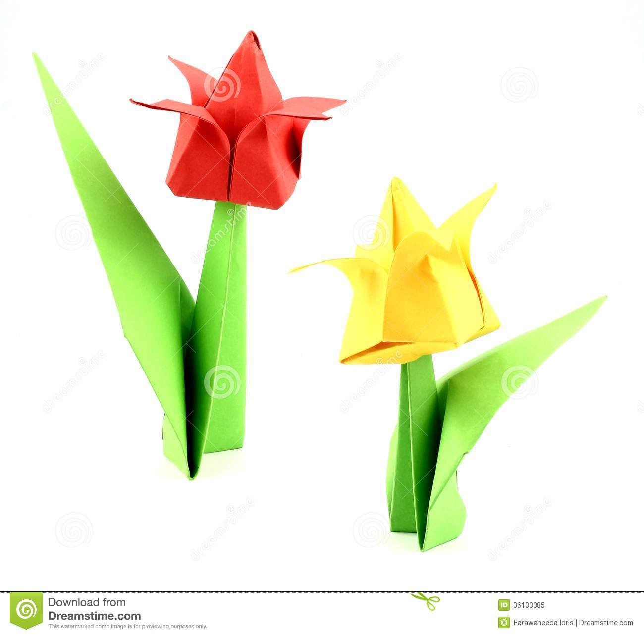 Origami Tulip Flower Stock Image Image Of Images Picture 36133385