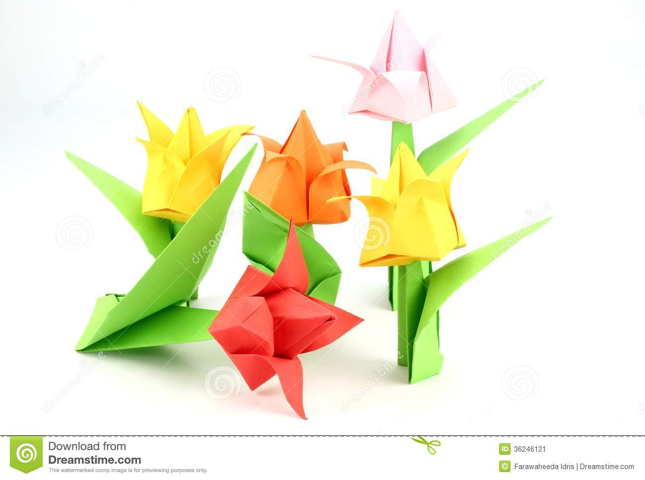 Origami tulip flower stock image image of beautiful 36246121 origami tulip flower mightylinksfo