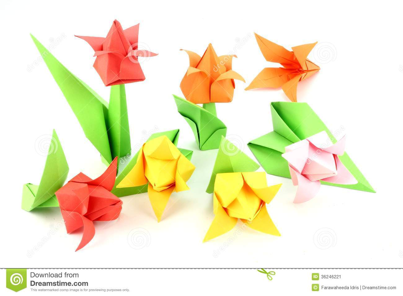 Origami tulip flower stock image image of royalty pictures origami tulip flower royalty pictures jeuxipadfo Image collections