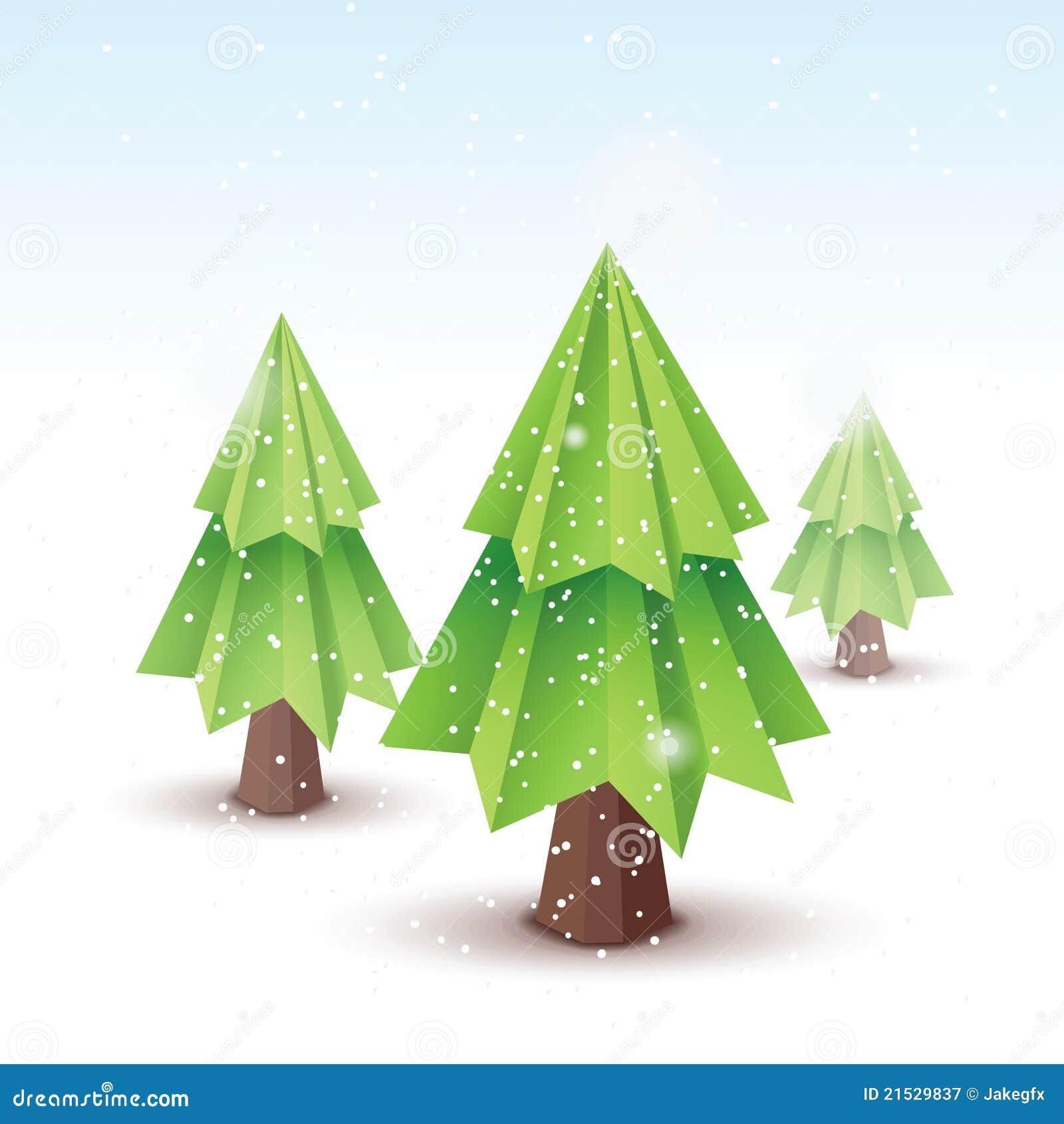 origami vector christmas tree royalty free stock