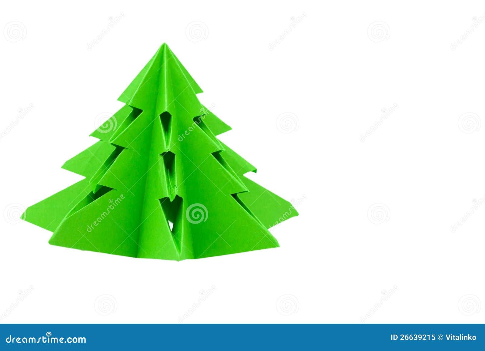 origami weihnachtsbaum stockbild bild von origami. Black Bedroom Furniture Sets. Home Design Ideas