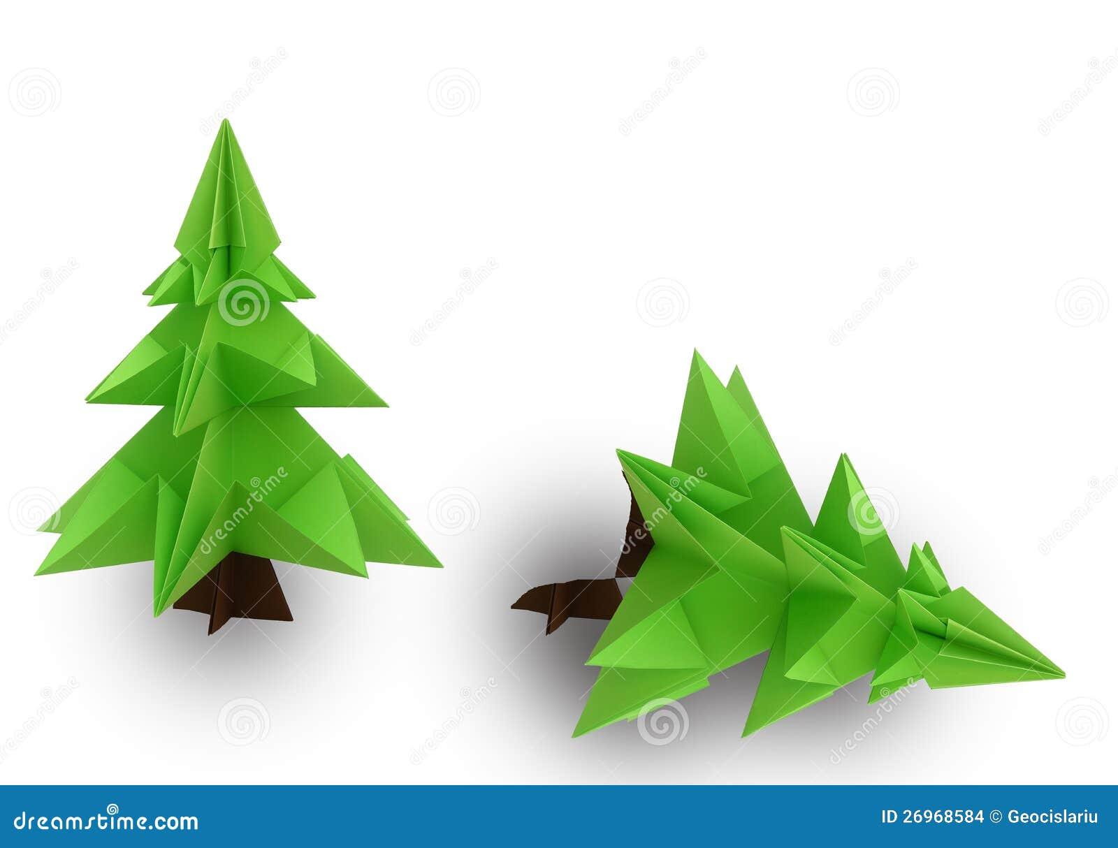 origami weihnachtsbaum stock abbildung bild von geschenk