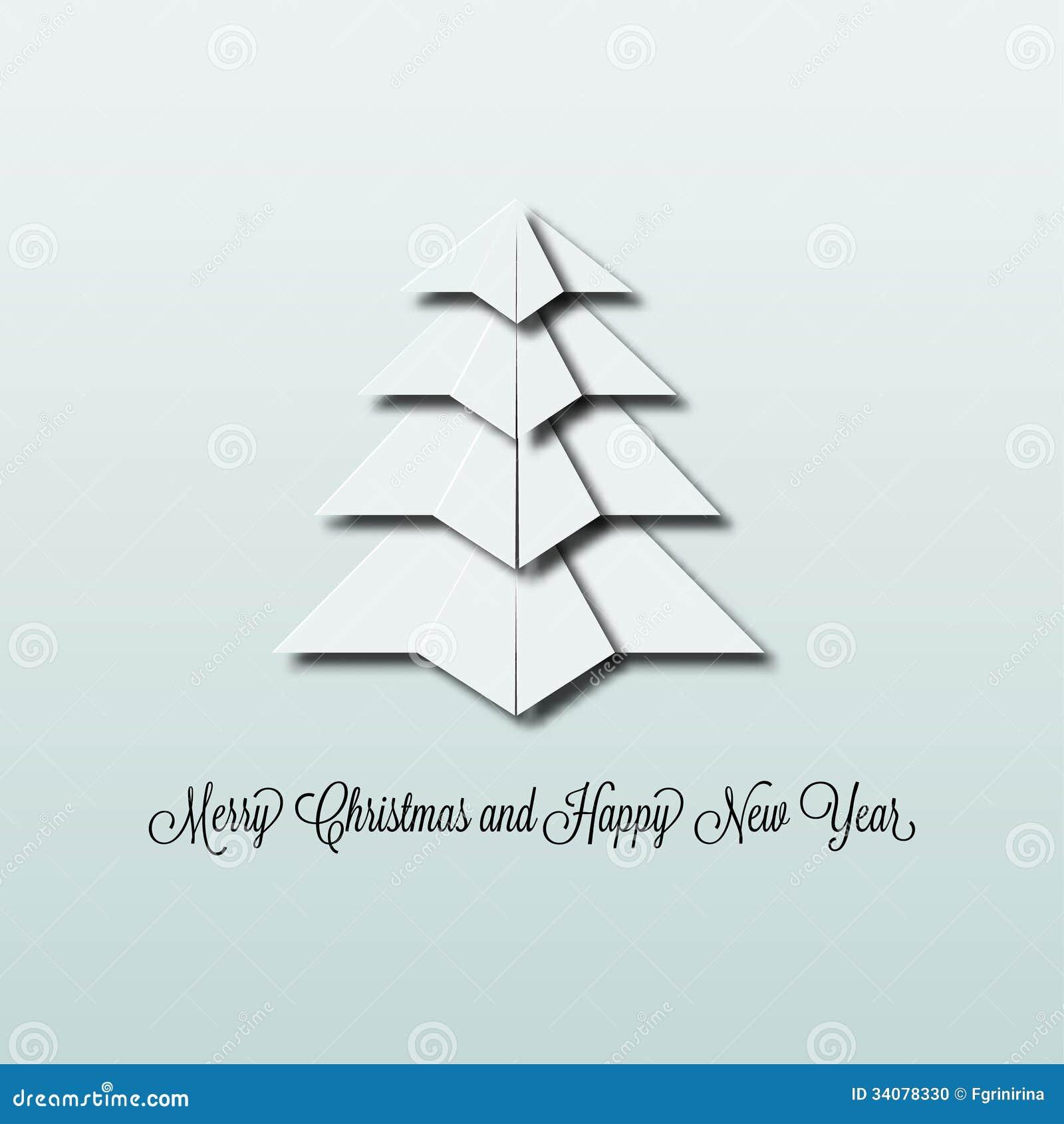 origami weihnachtsbaum stockfoto bild 34078330. Black Bedroom Furniture Sets. Home Design Ideas