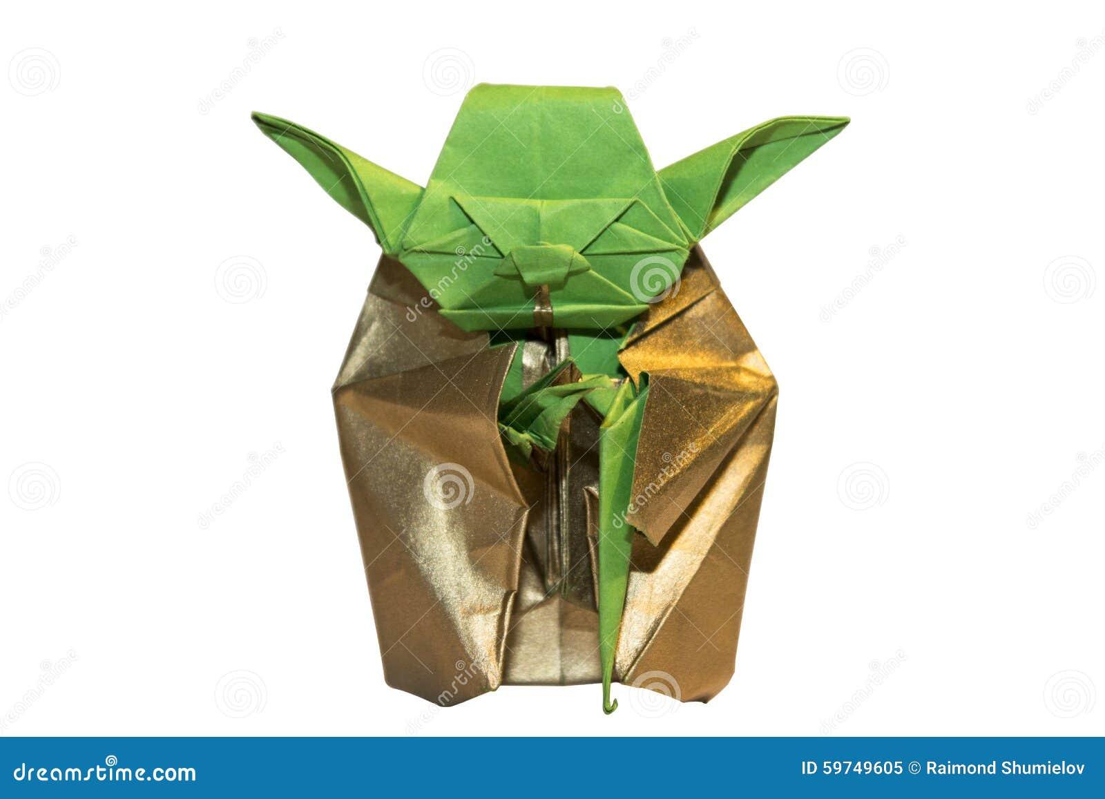 Origami Yoda Jedi Isolated On White Stock Image - Image of ... - photo#43