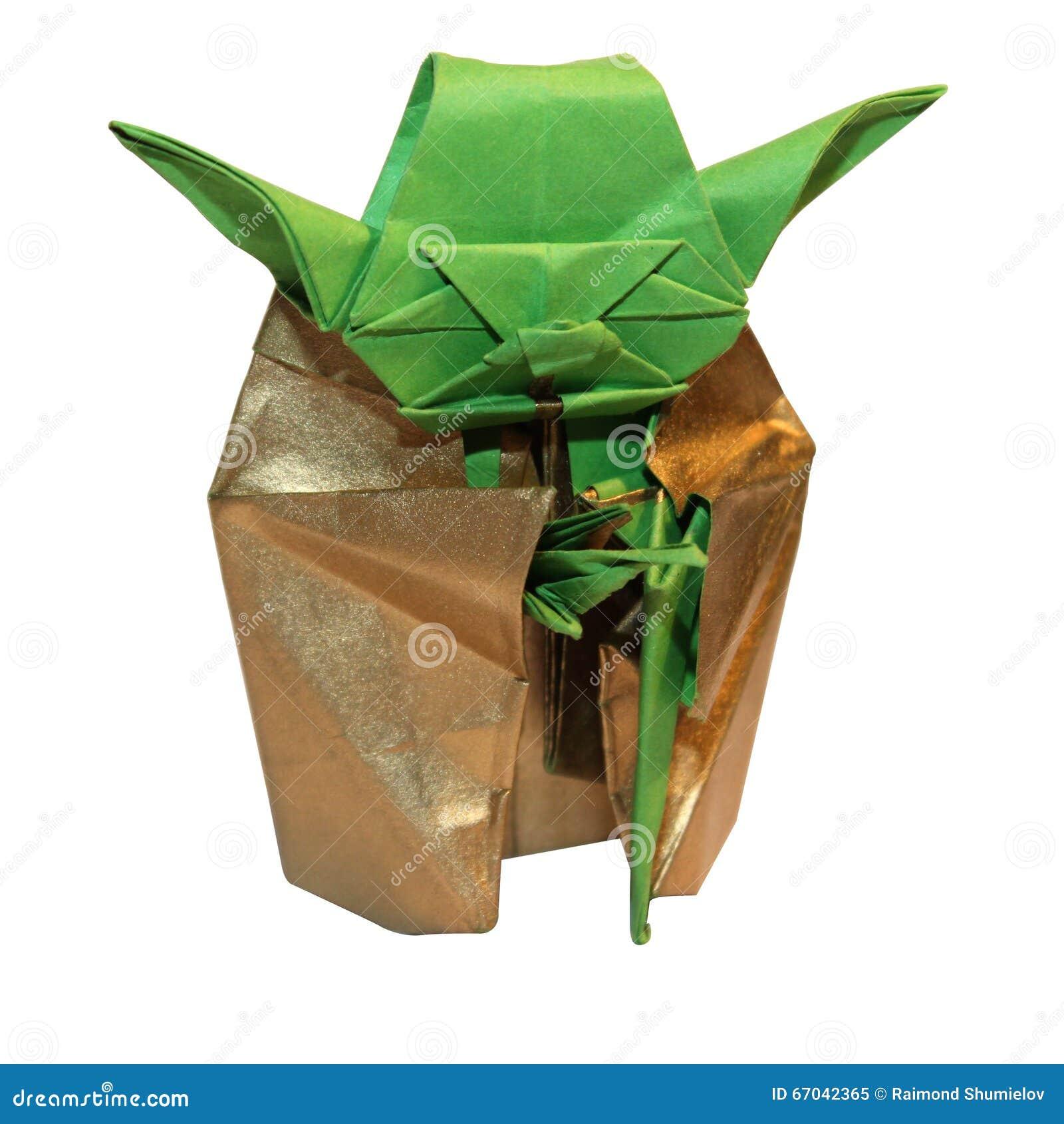 Origami Yoda Jedi Stock Image Image Of Paper Wars Inspiration