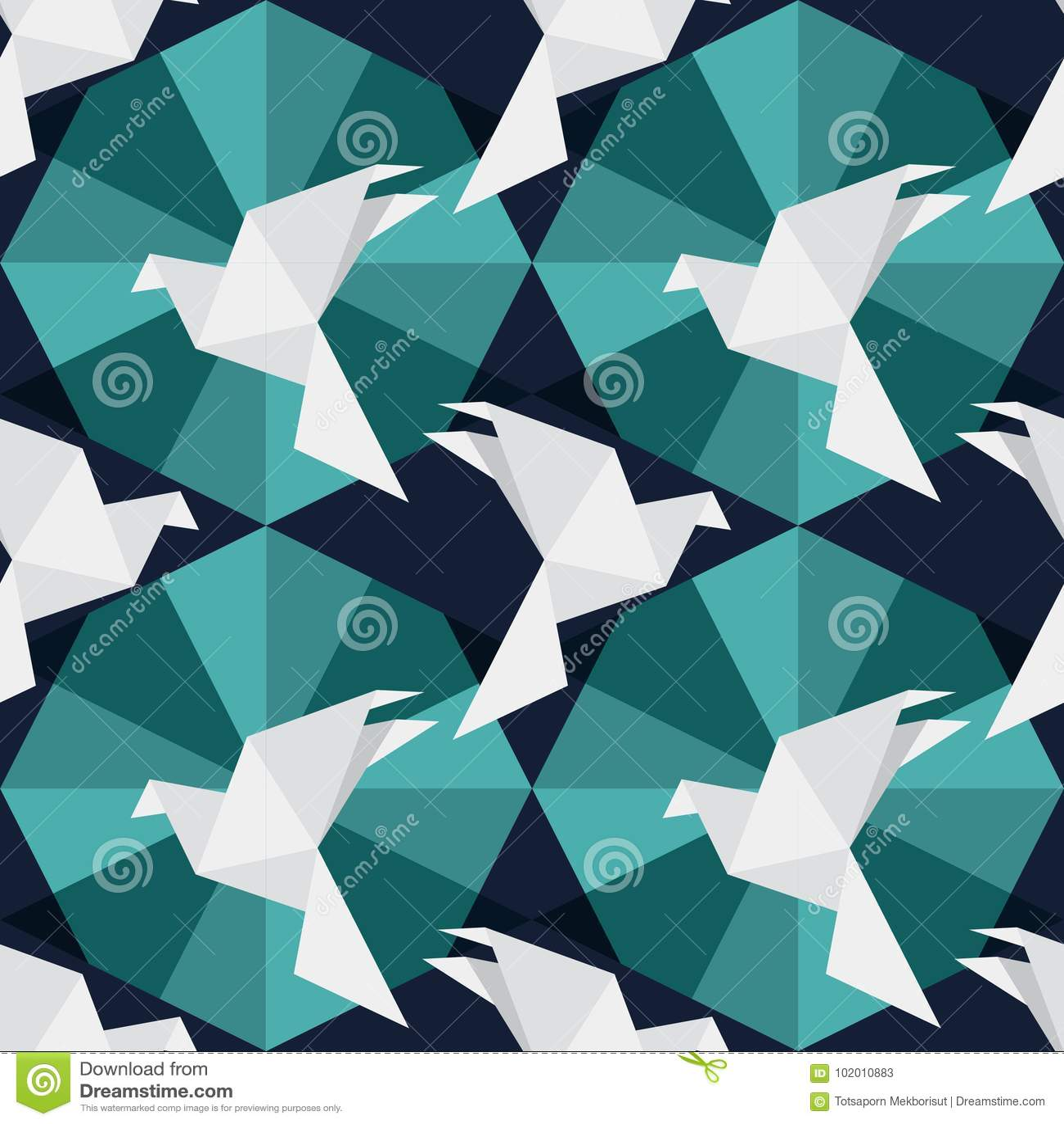 Origamin skyler över brister fåglar