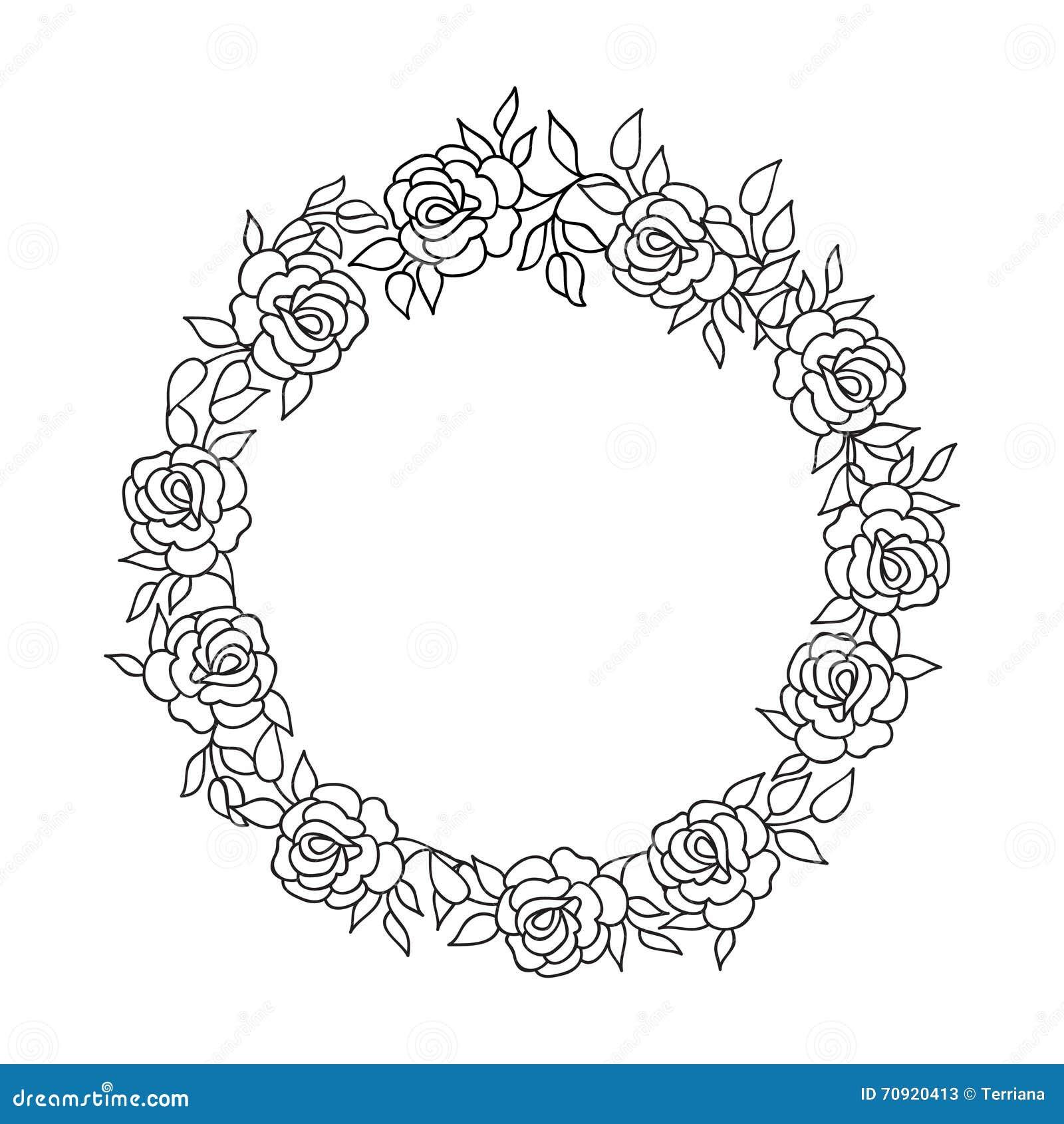 Origen étnico Floral Del Flourish Del Marco Del Círculo Tarjeta De ...