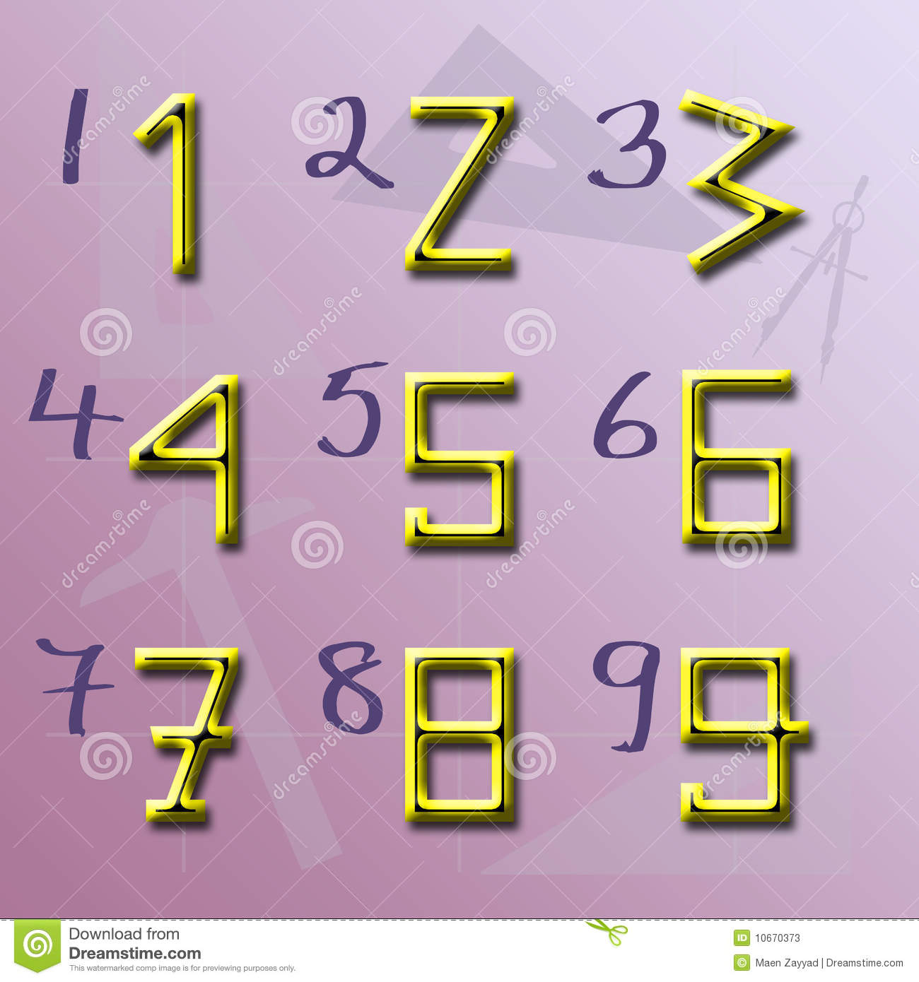 Origin of Numbers shape