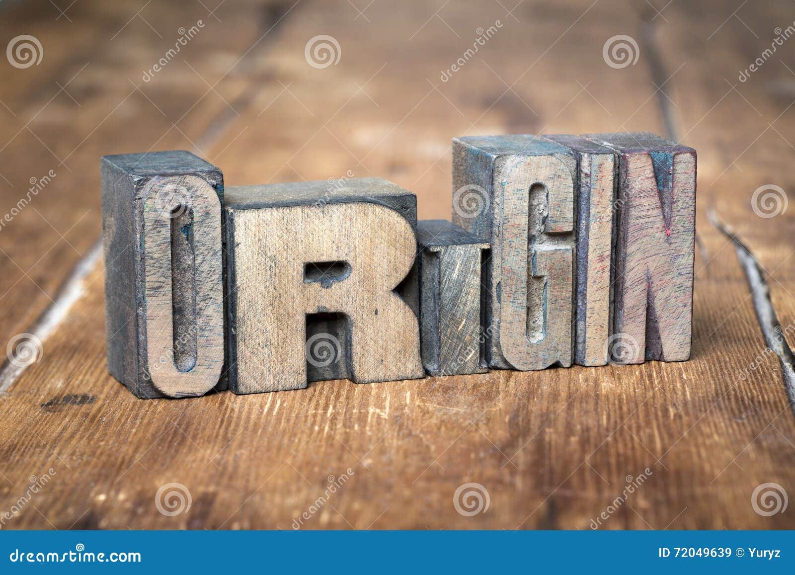 Origin word wood