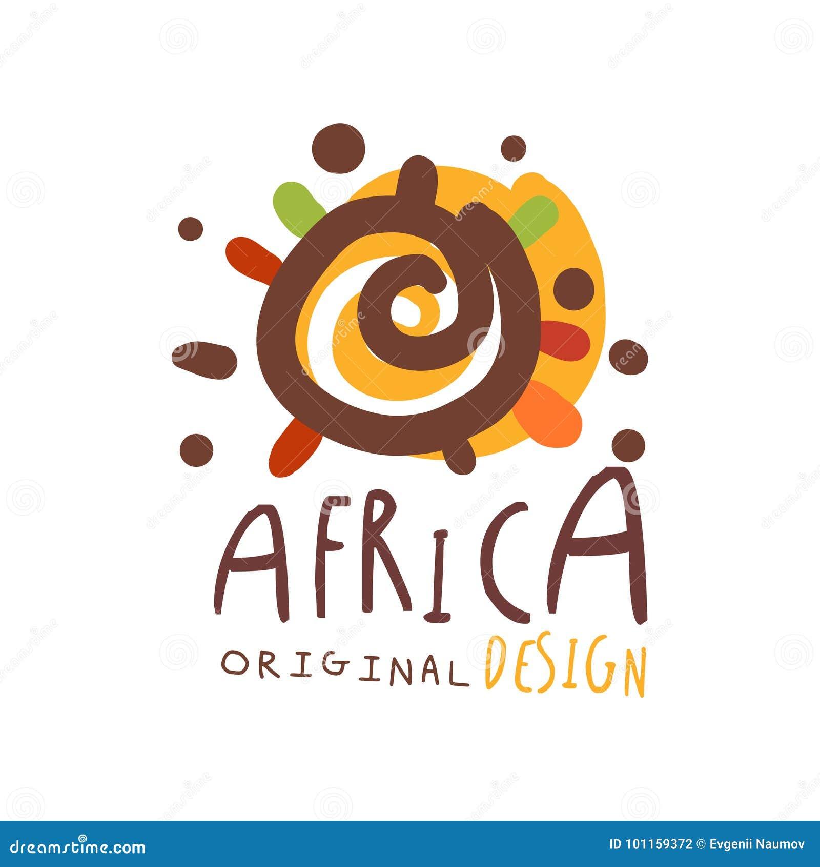original african logo design template stock vector illustration of