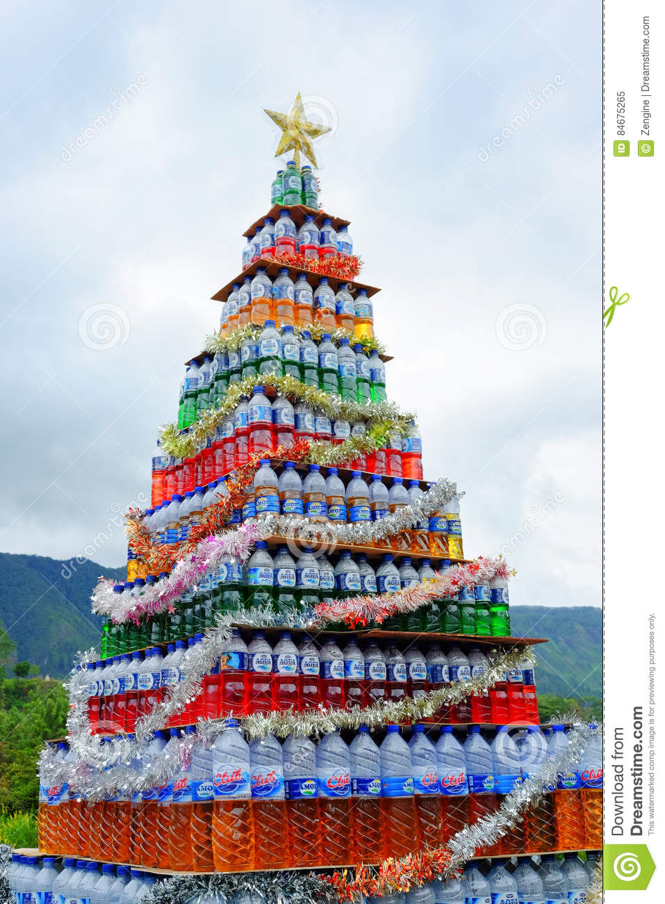 Original Christmas Tree Editorial Image Image Of Recycle 84675265