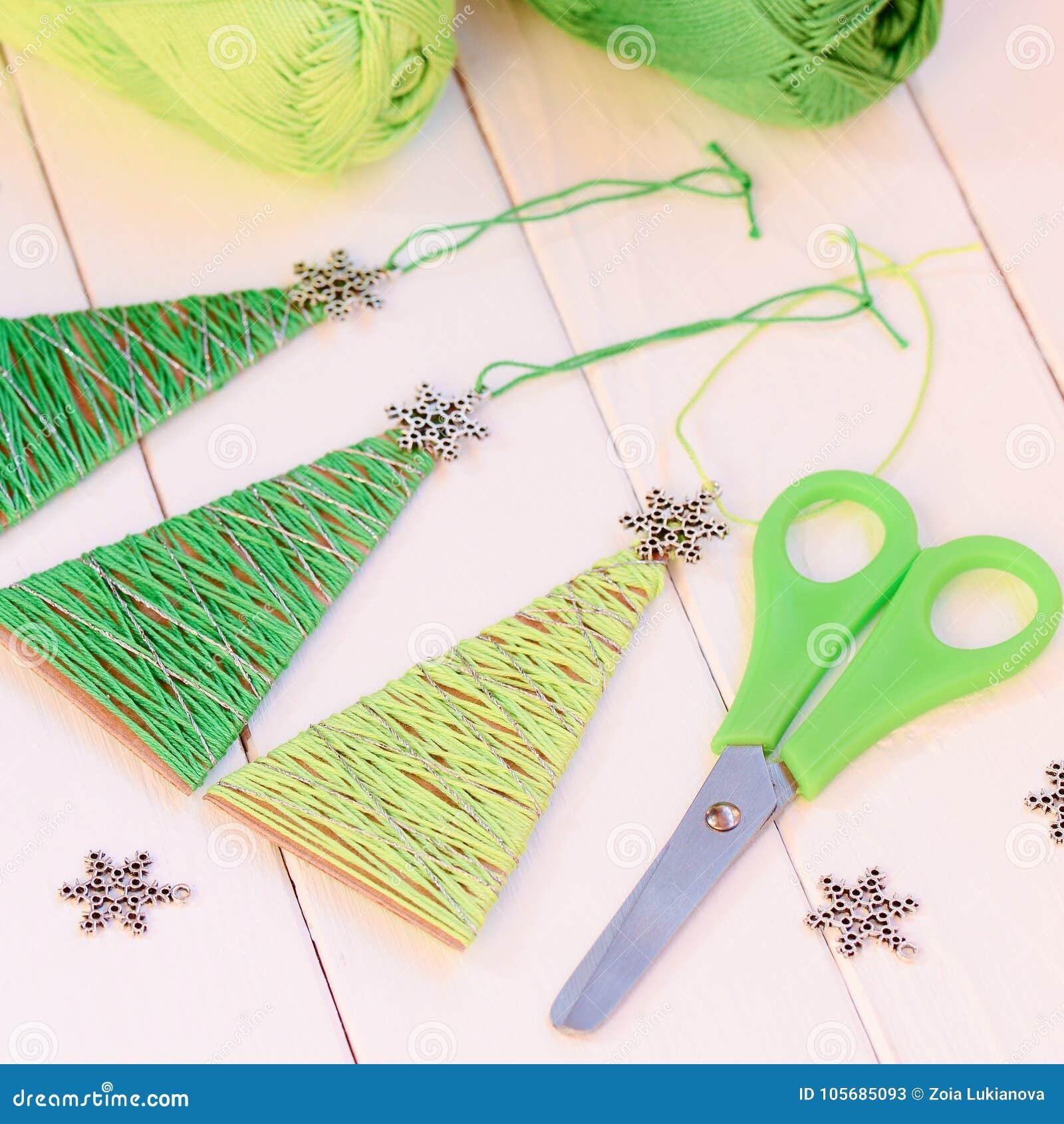 Original Christmas Trees Ornaments Scissors Metal Snowflakes