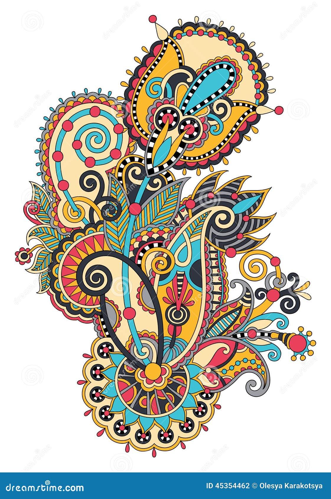 Original conception fleurie aspiration de main de fleur de schéma