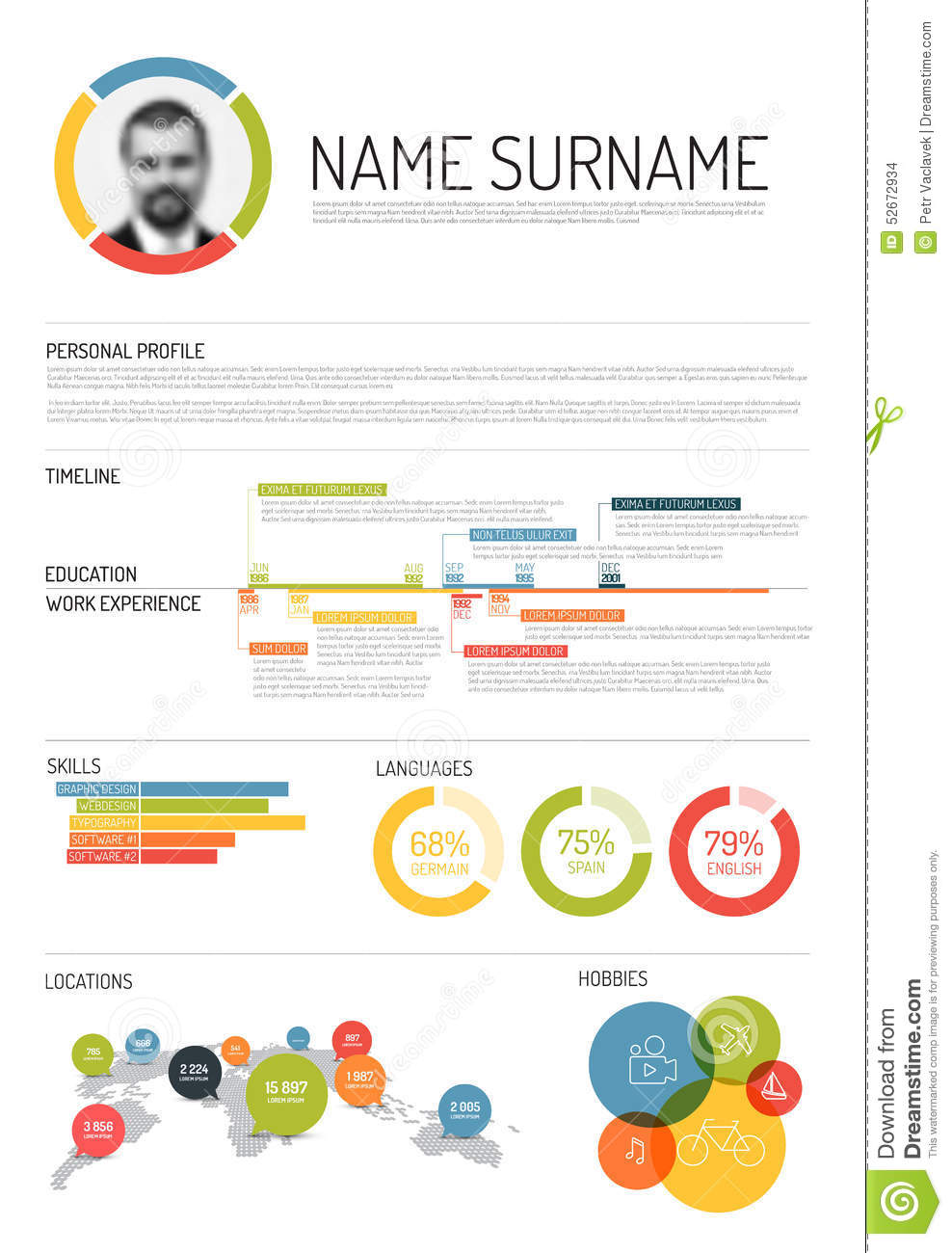 original cv resume template - Infographic Resume Templates