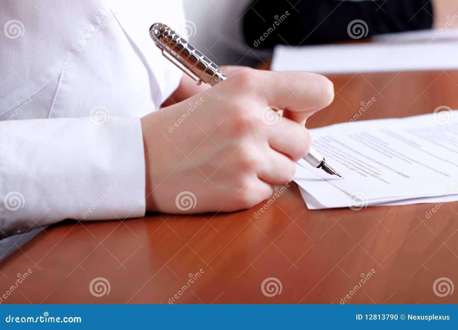 Original de assinatura da mão da pessoa